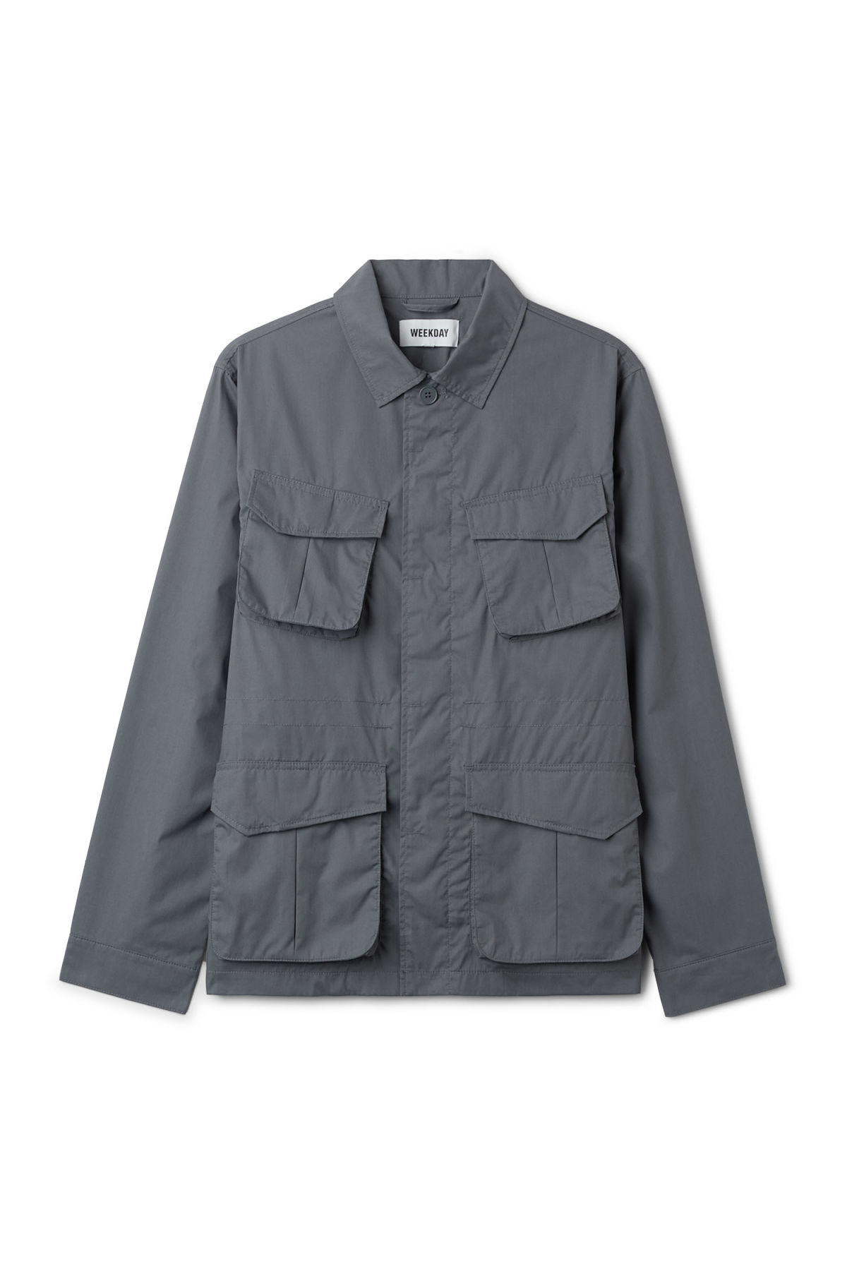 Front image of Weekday keith pocket jacket in blue