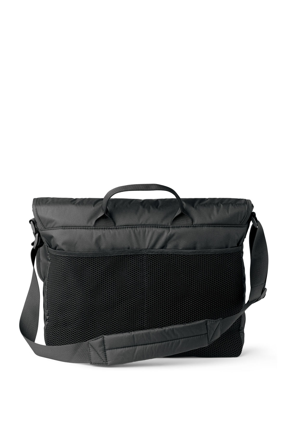 Back image of Weekday pluto messenger bag in black