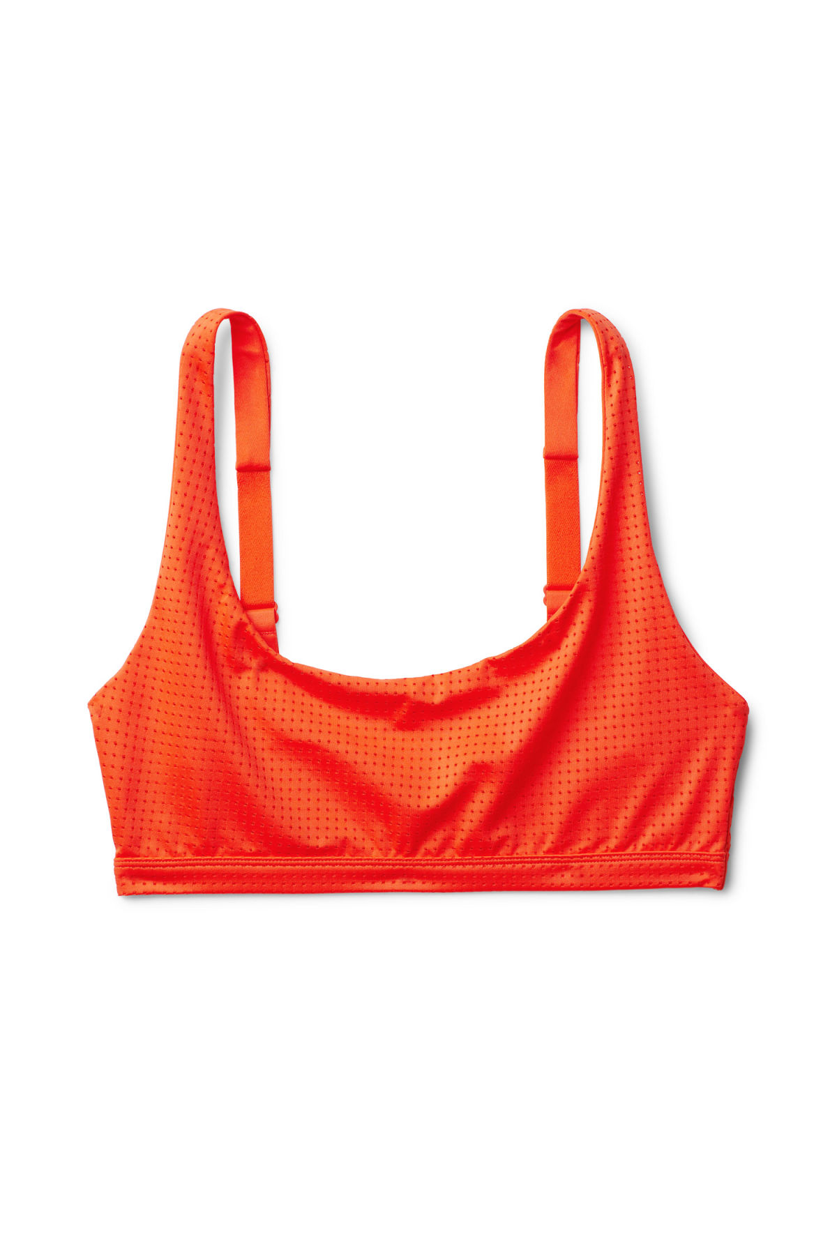 Front image of Weekday cay mesh swim top in orange