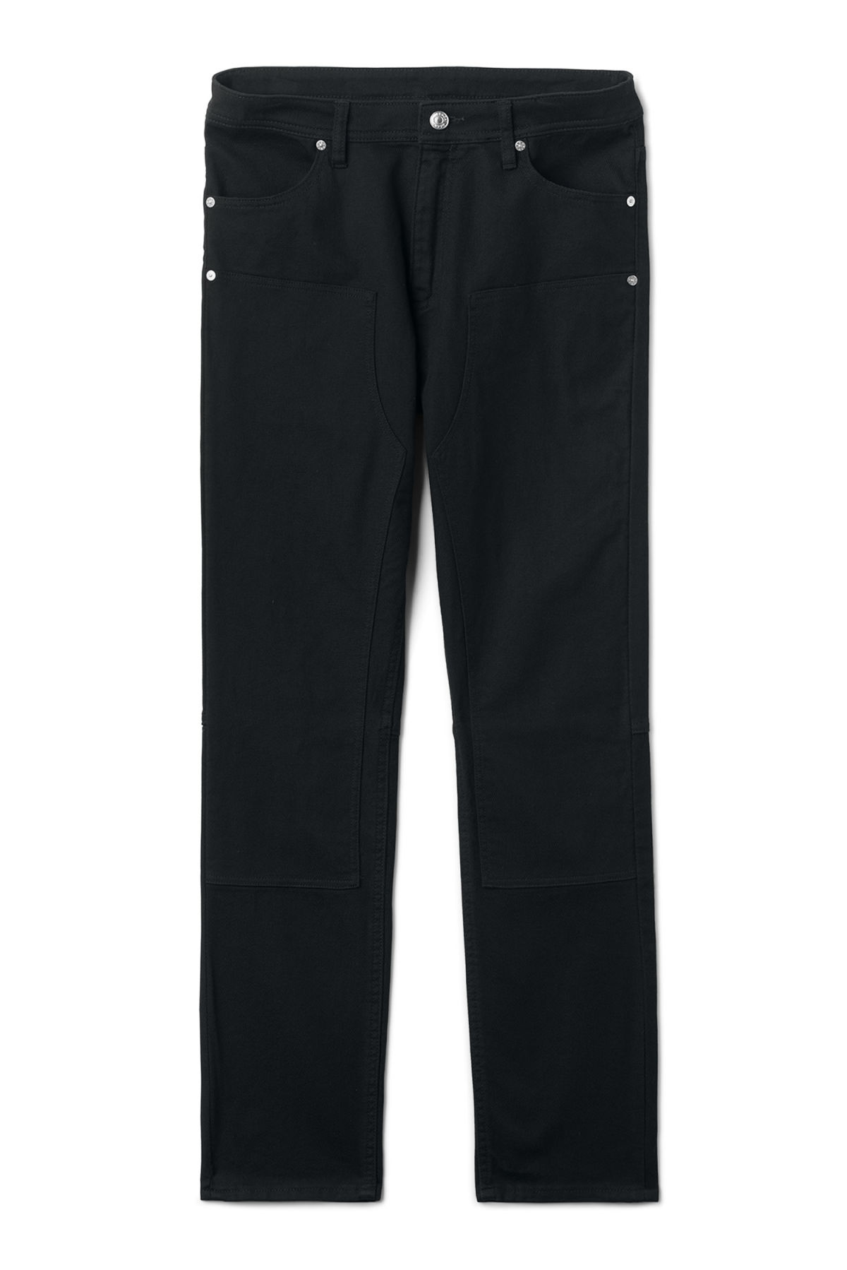 Front image of Weekday grime trousers in black