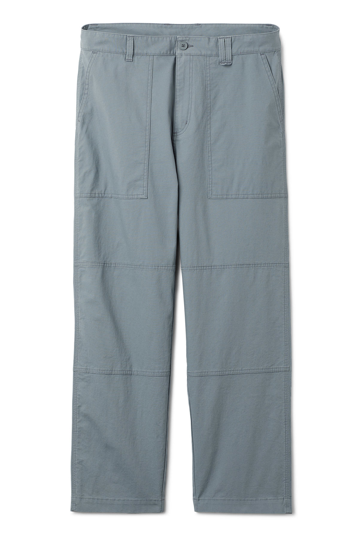 Front image of Weekday delft pocket trousers in turquoise