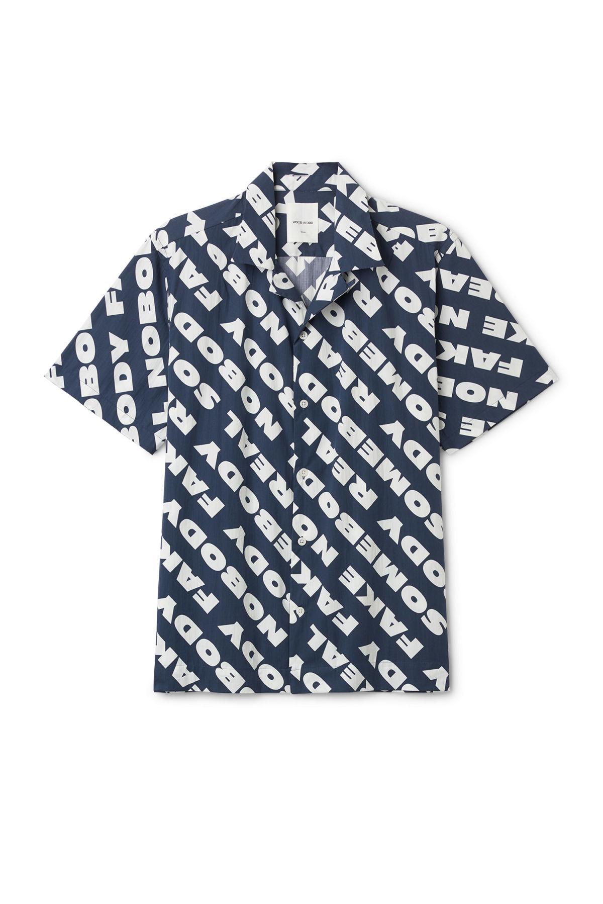 Front image of Weekday brandon shirt in blue