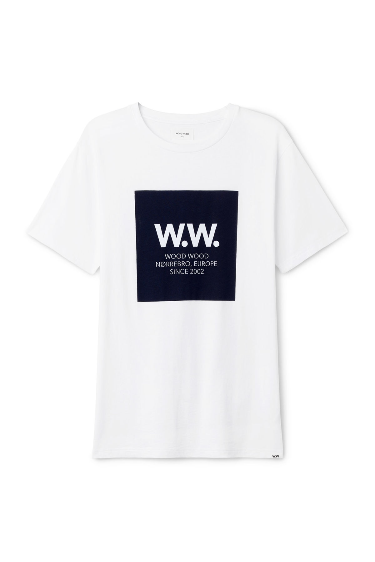 Front image of Weekday the square t-shirt in white