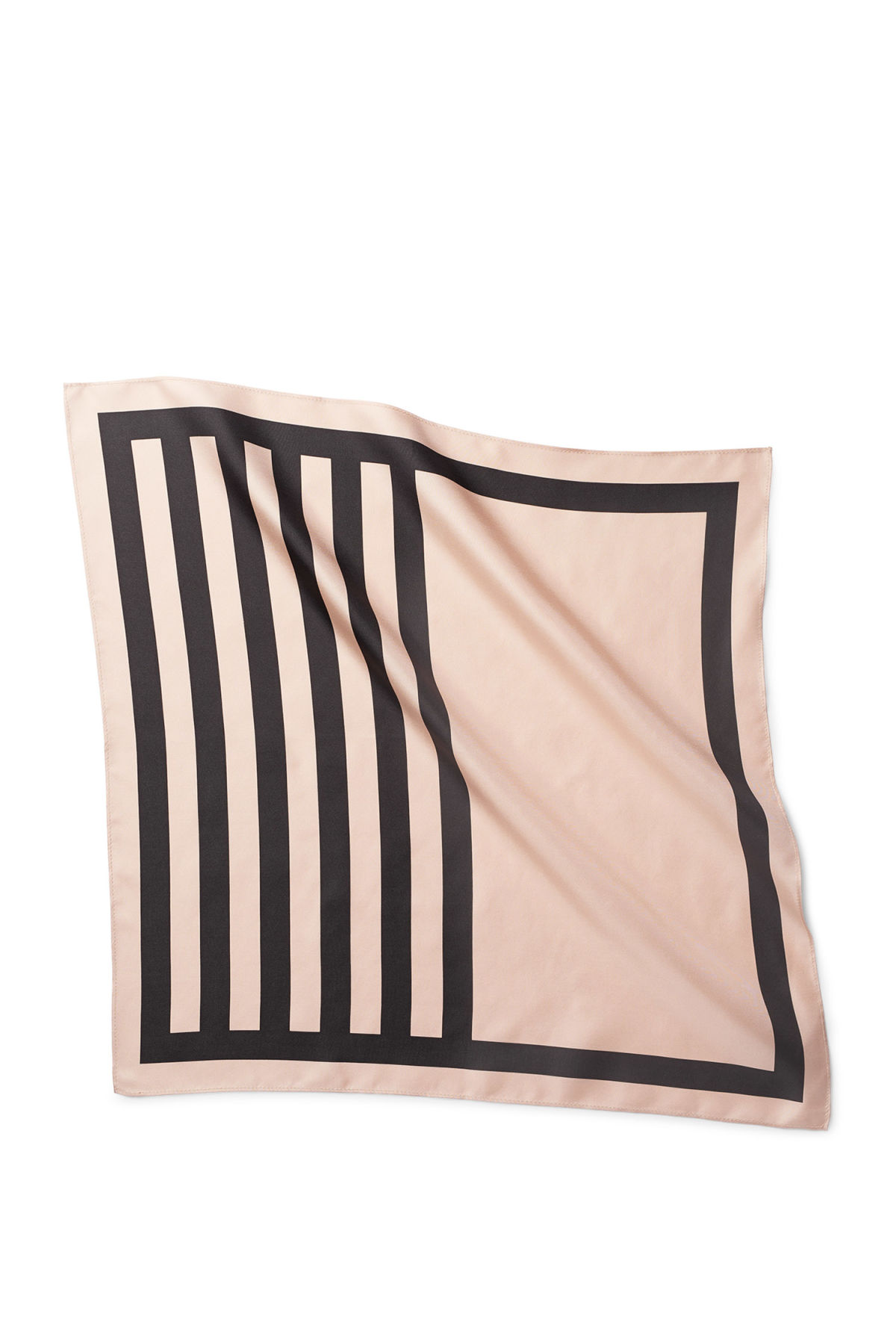 Front image of Weekday draco silk scarf in beige