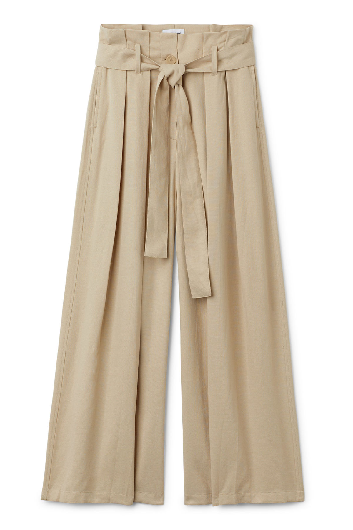 Front image of Weekday mucha trousers in beige