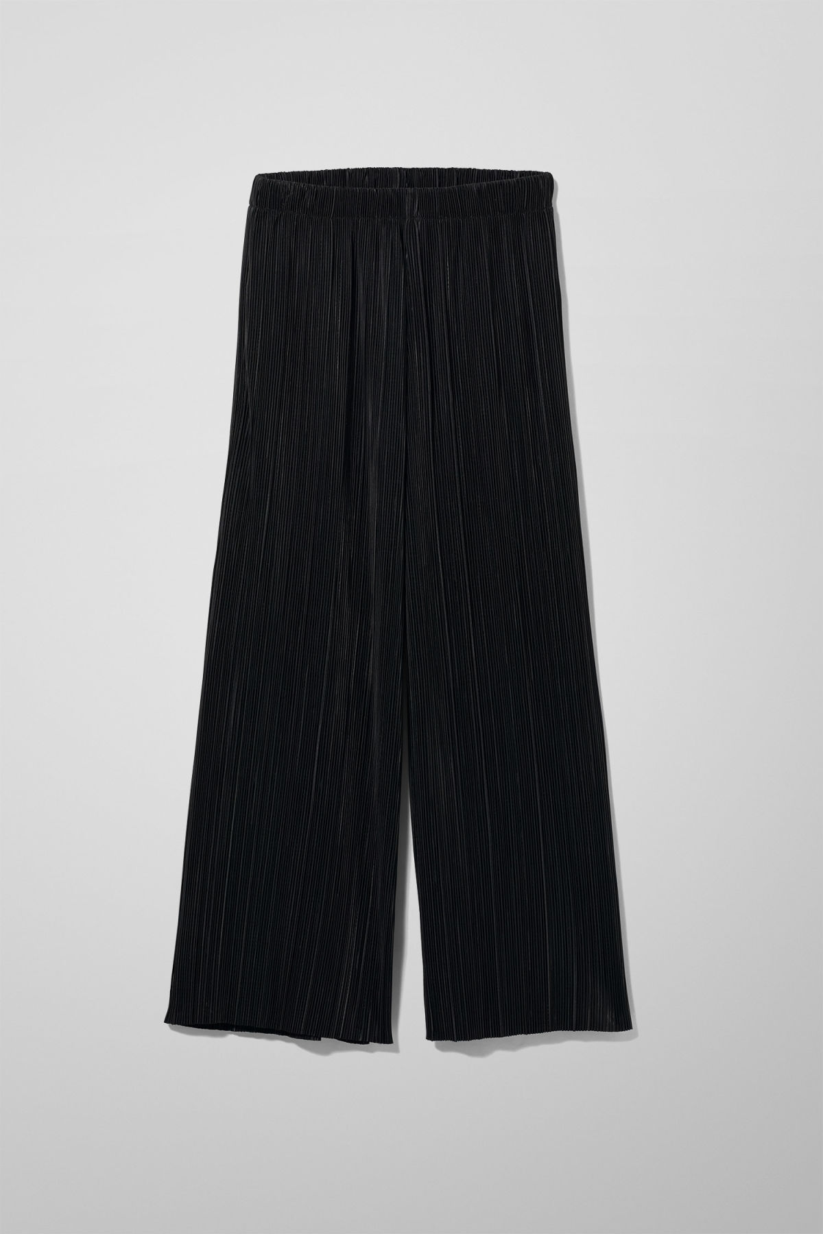 Front image of Weekday wassily pleat trousers in black
