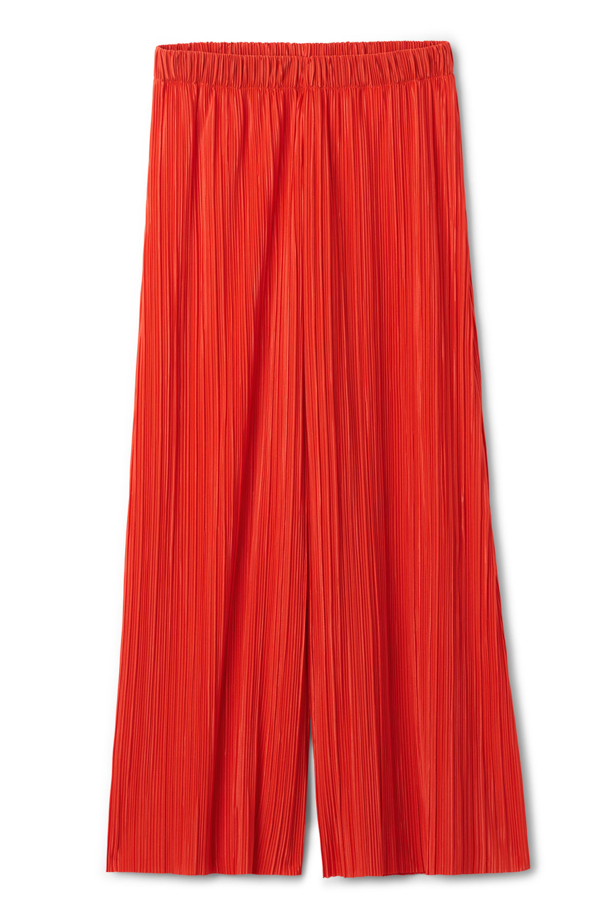 Front image of Weekday wassily pleat trousers in orange