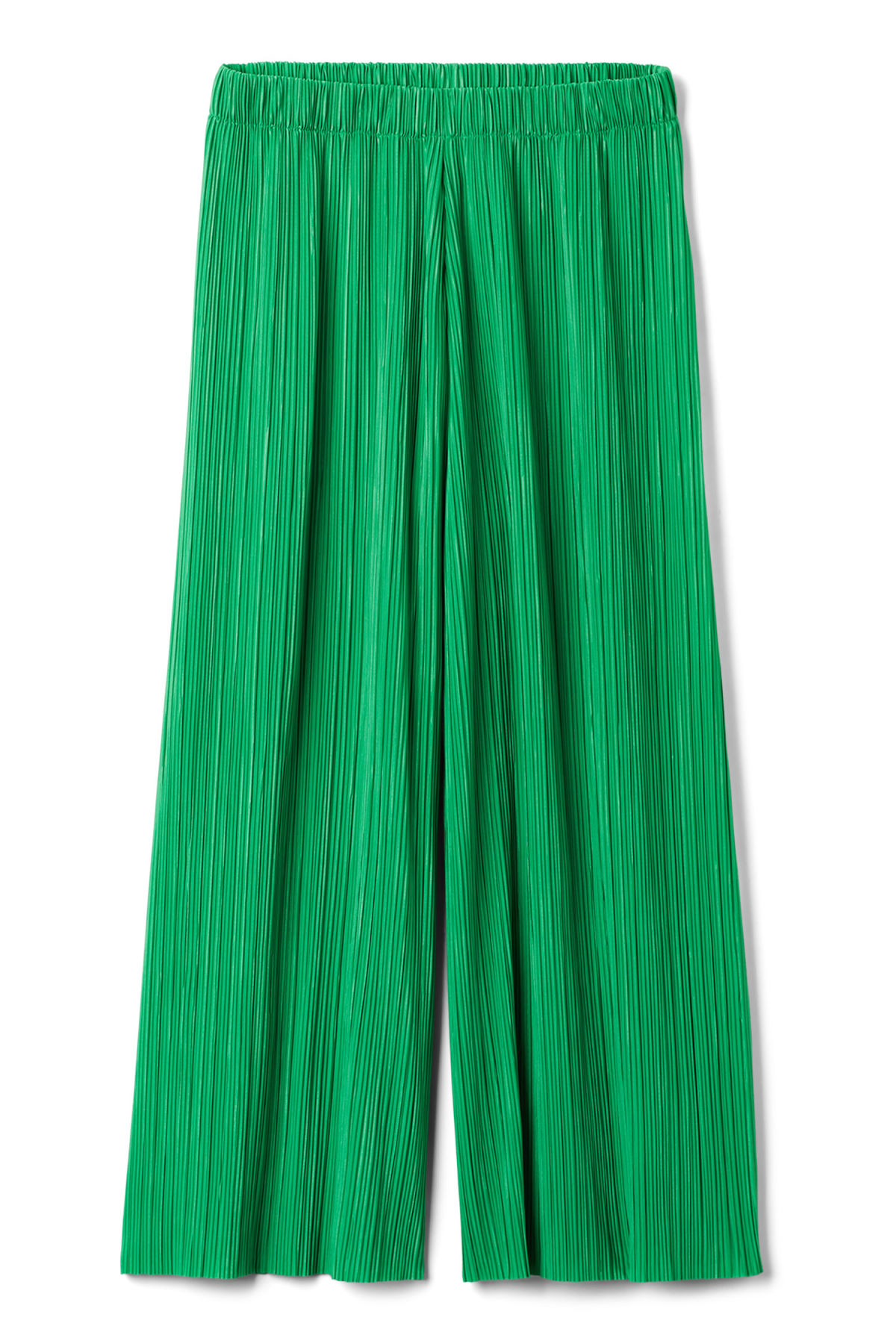 Front image of Weekday wassily pleat trousers in green
