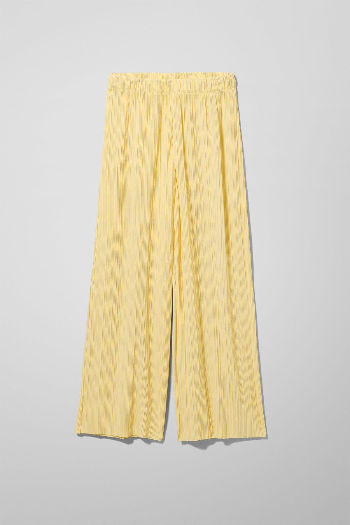 Front image of Weekday wassily pleat trousers in yellow