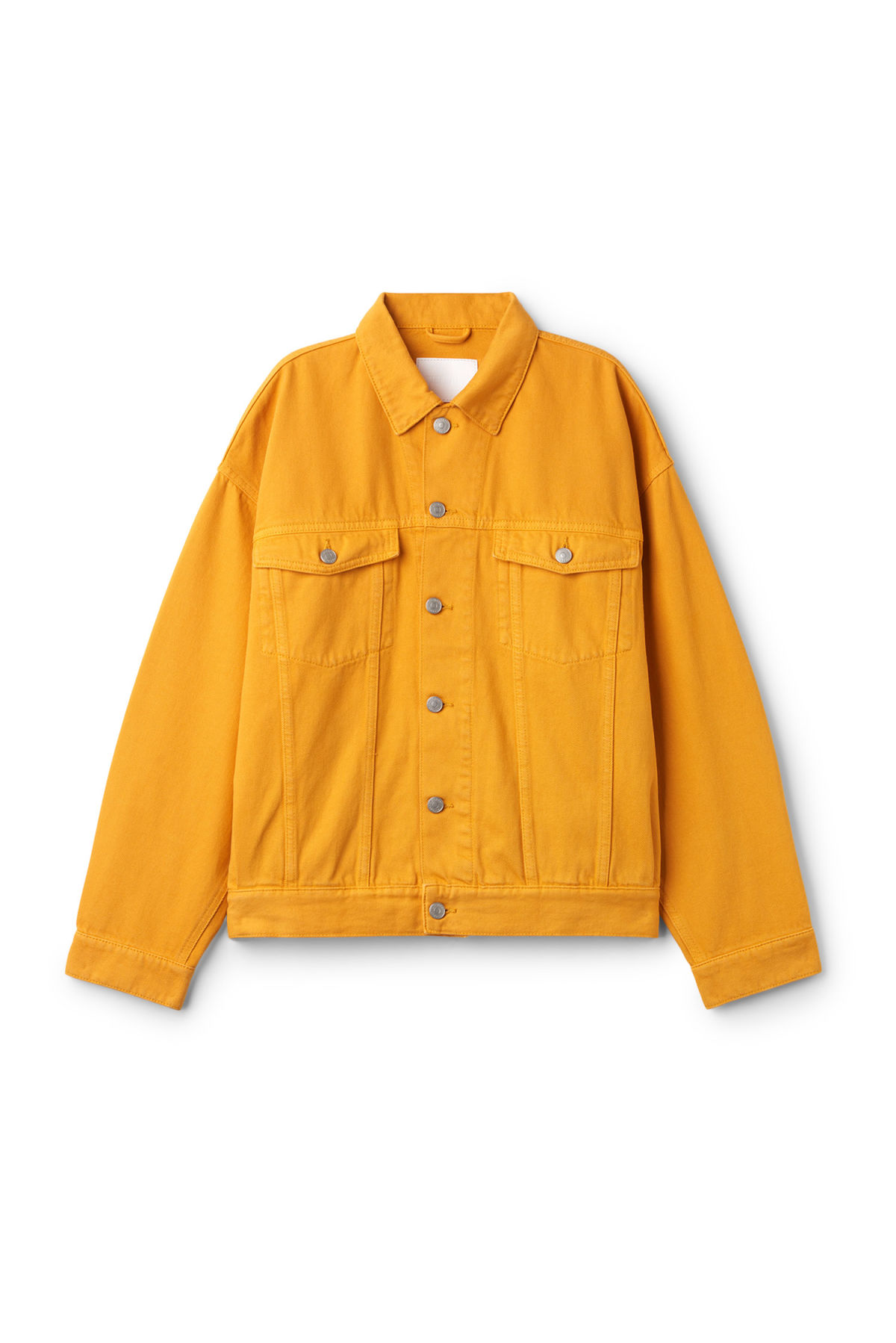 Front image of Weekday dune yellow jacket  in yellow