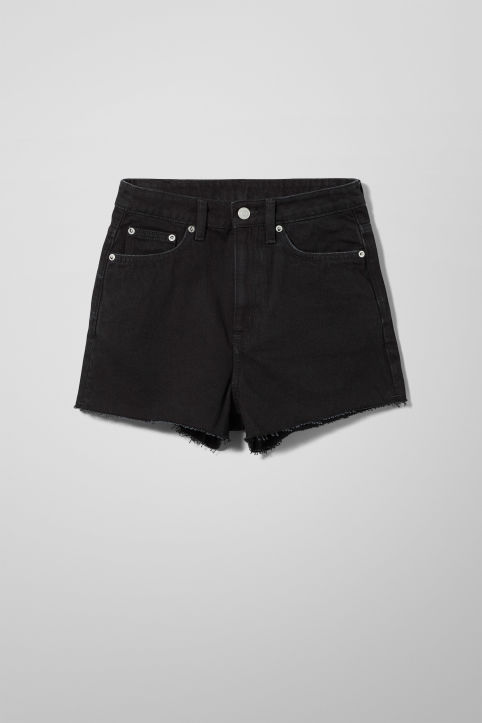 Weekday Row Glory Black Shorts