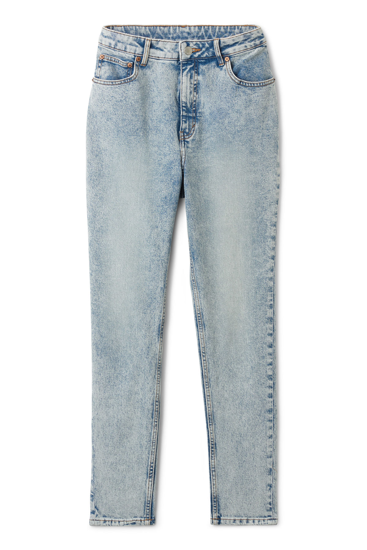 Front image of Weekday donna ice blue jeans in blue