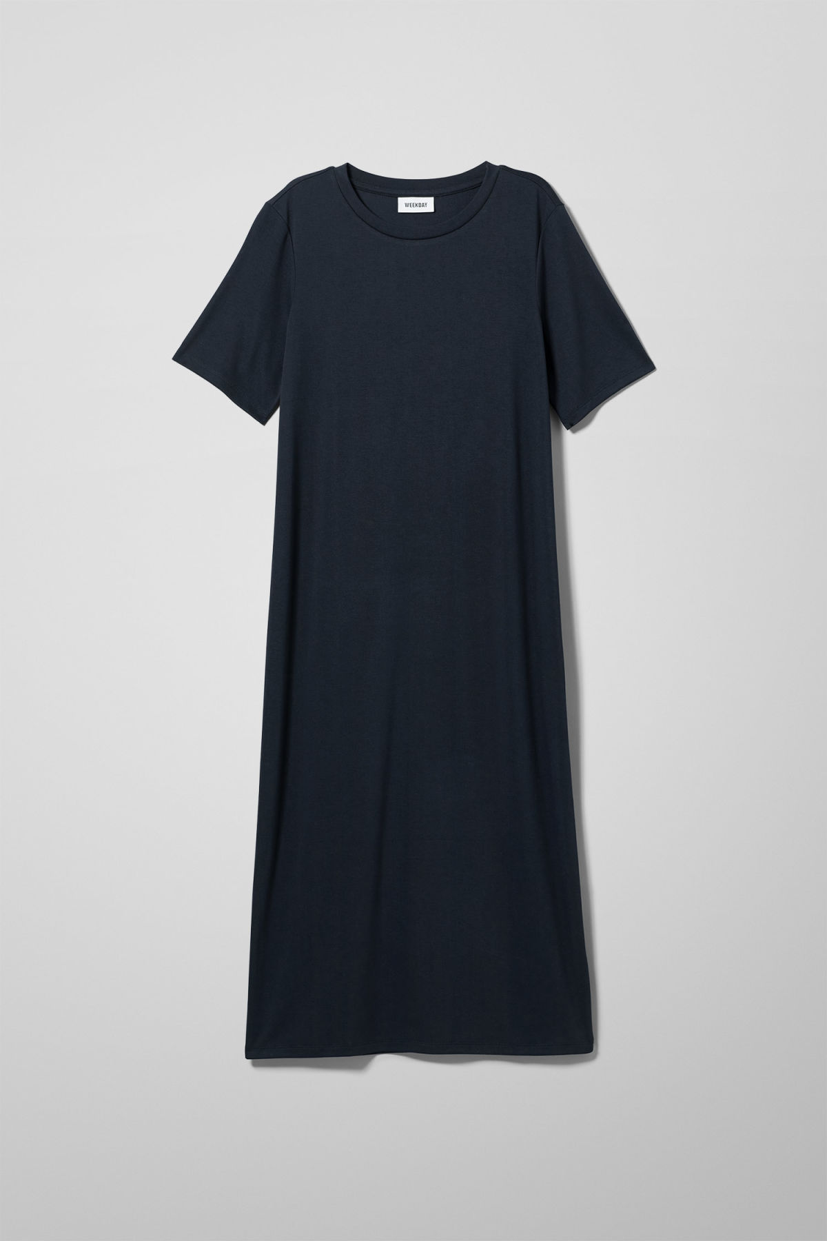 Front image of Weekday beyond dress in blue