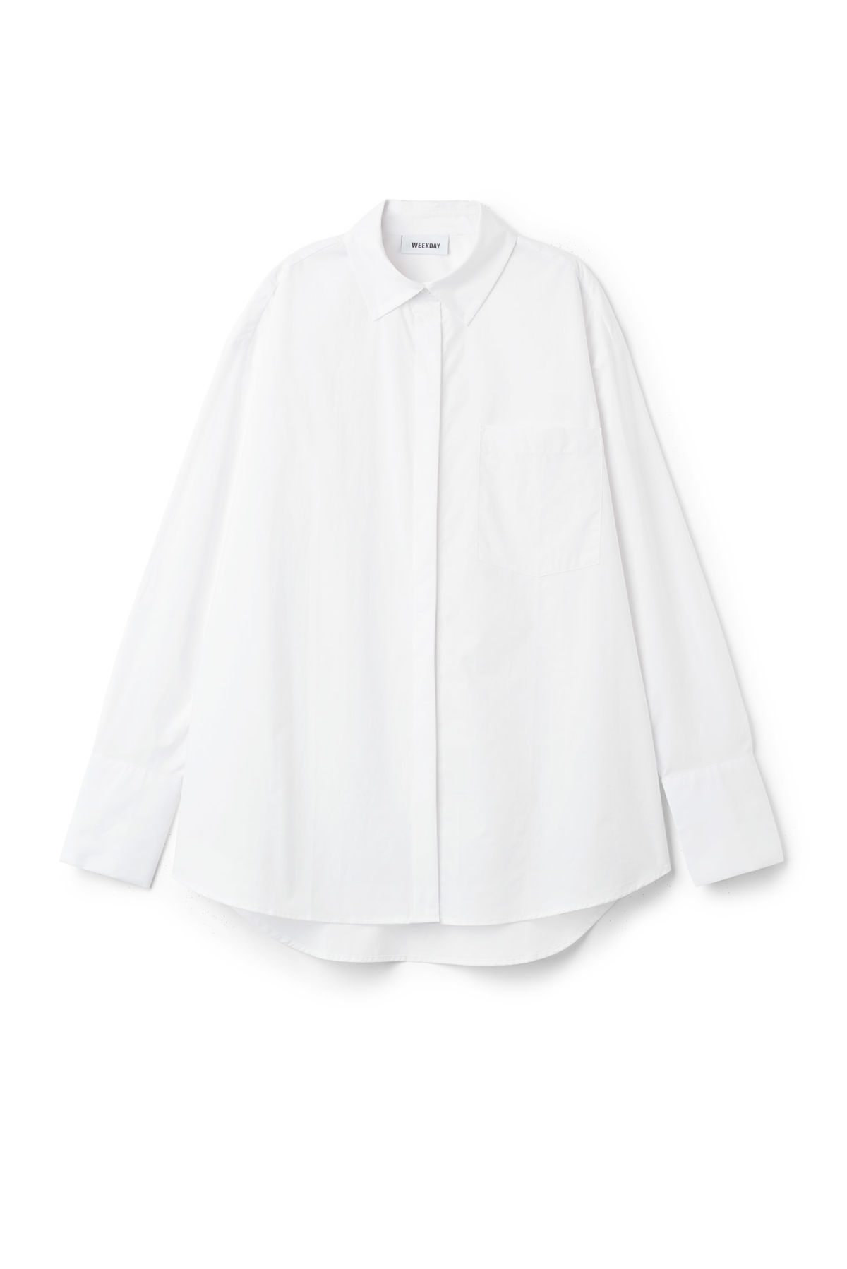 Front image of Weekday format shirt  in white