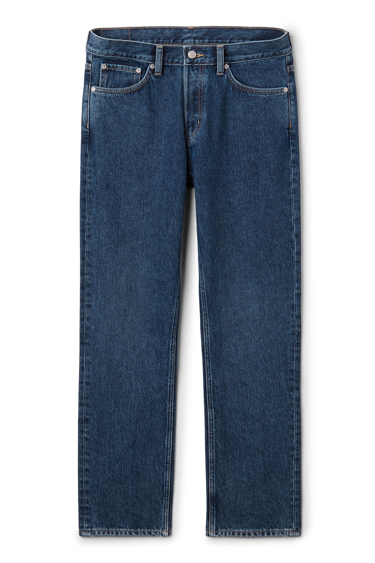 Front image of Weekday vacant win blue jeans in blue