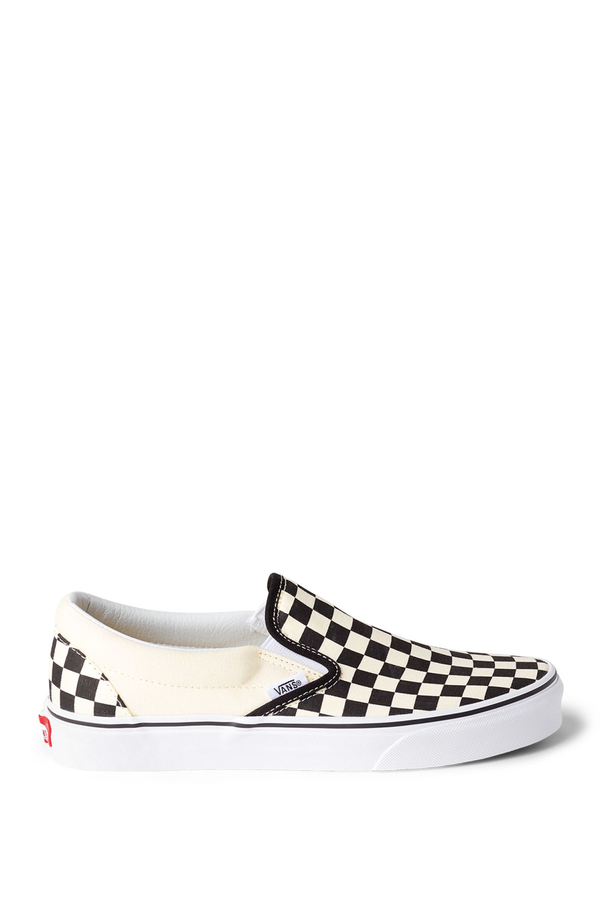 Front image of Weekday classic slip-on shoes in white