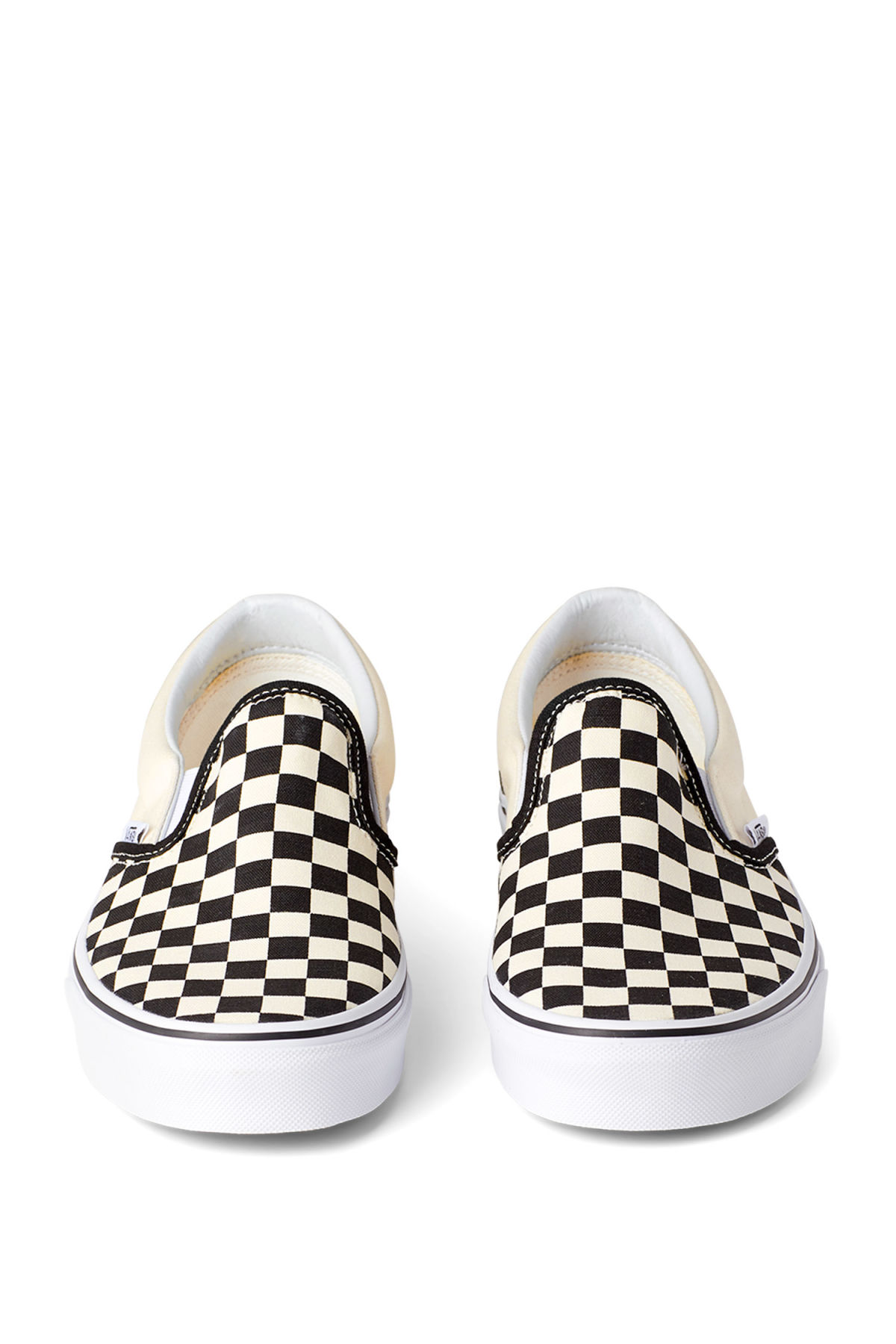 bc5e4a41af ... Side image of Weekday classic slip-on shoes in white