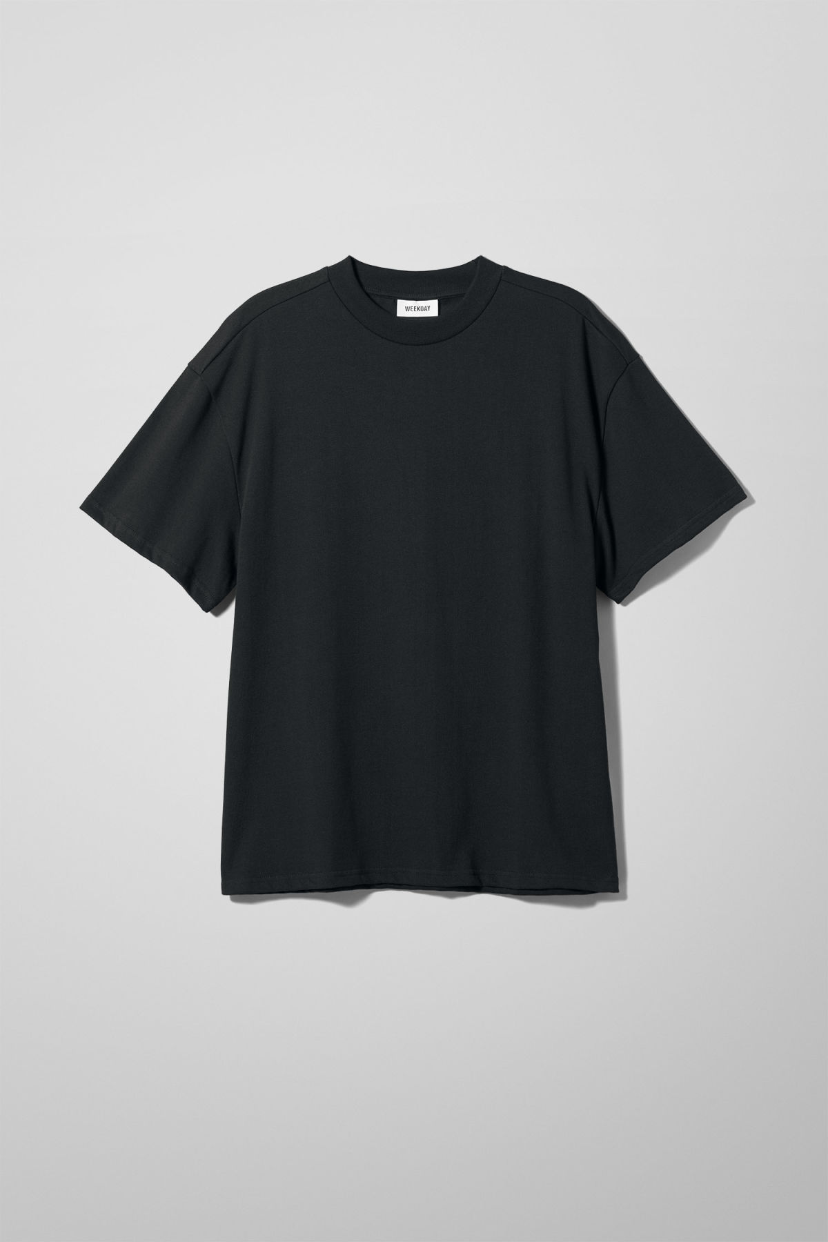 Front image of Weekday great t-shirt in black