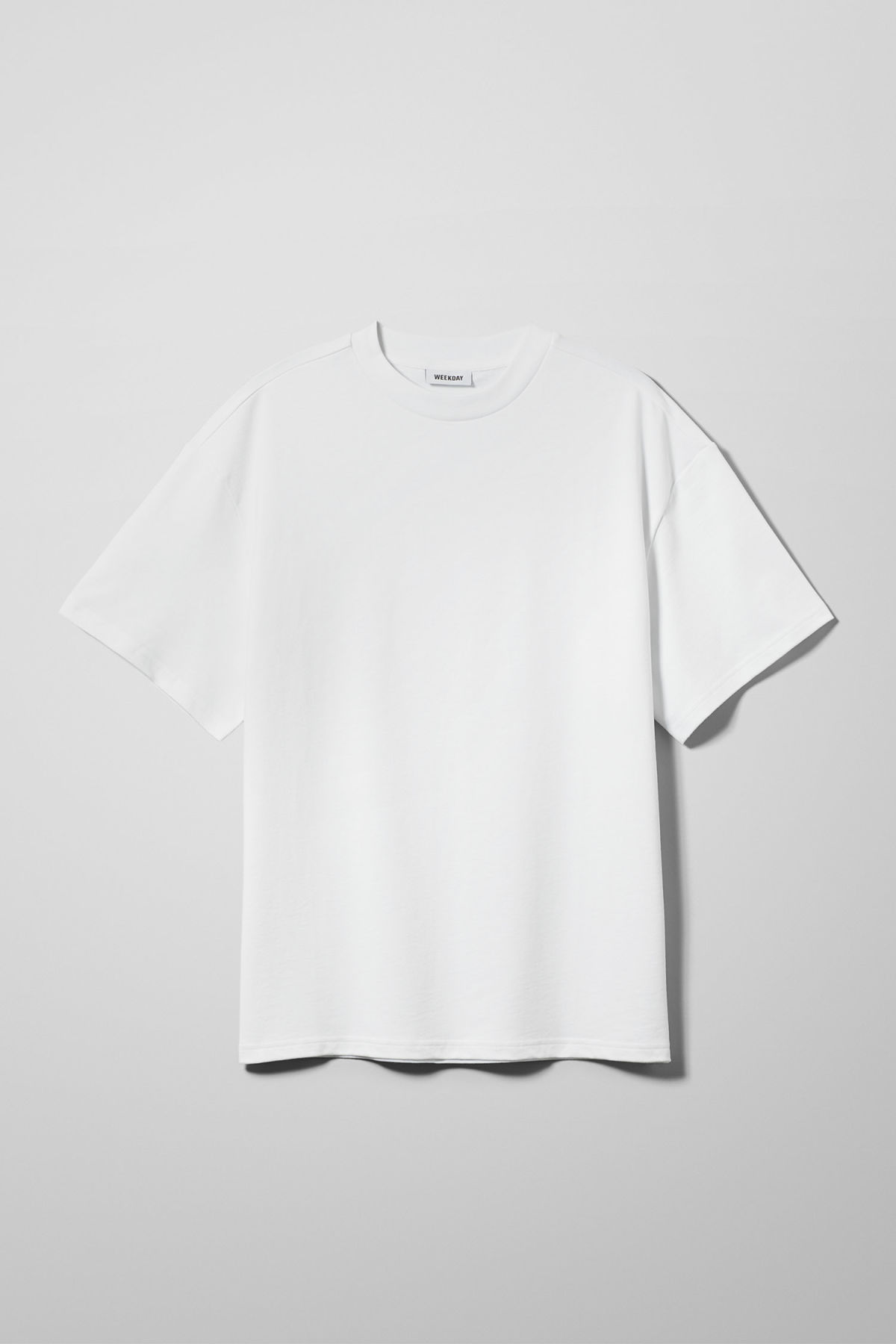 Front image of Weekday great t-shirt in white