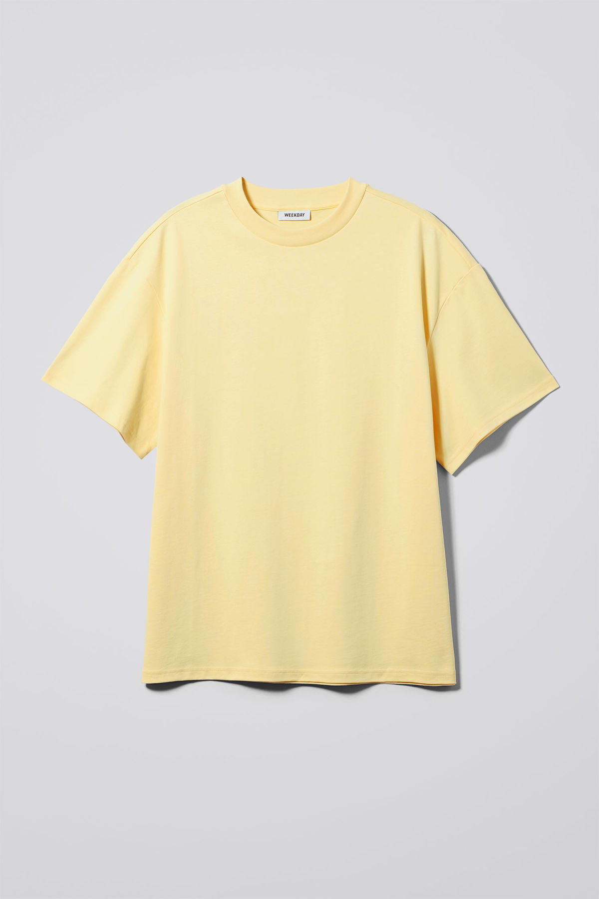 Front image of Weekday great t-shirt in yellow