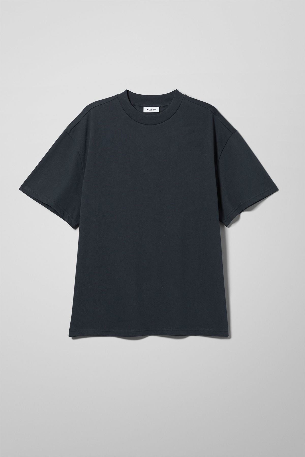 Front image of Weekday great t-shirt in blue