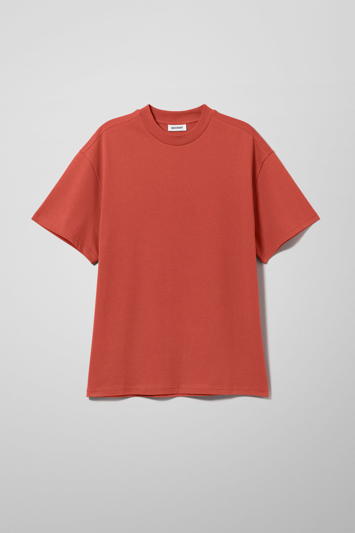 Front image of Weekday great t-shirt in red