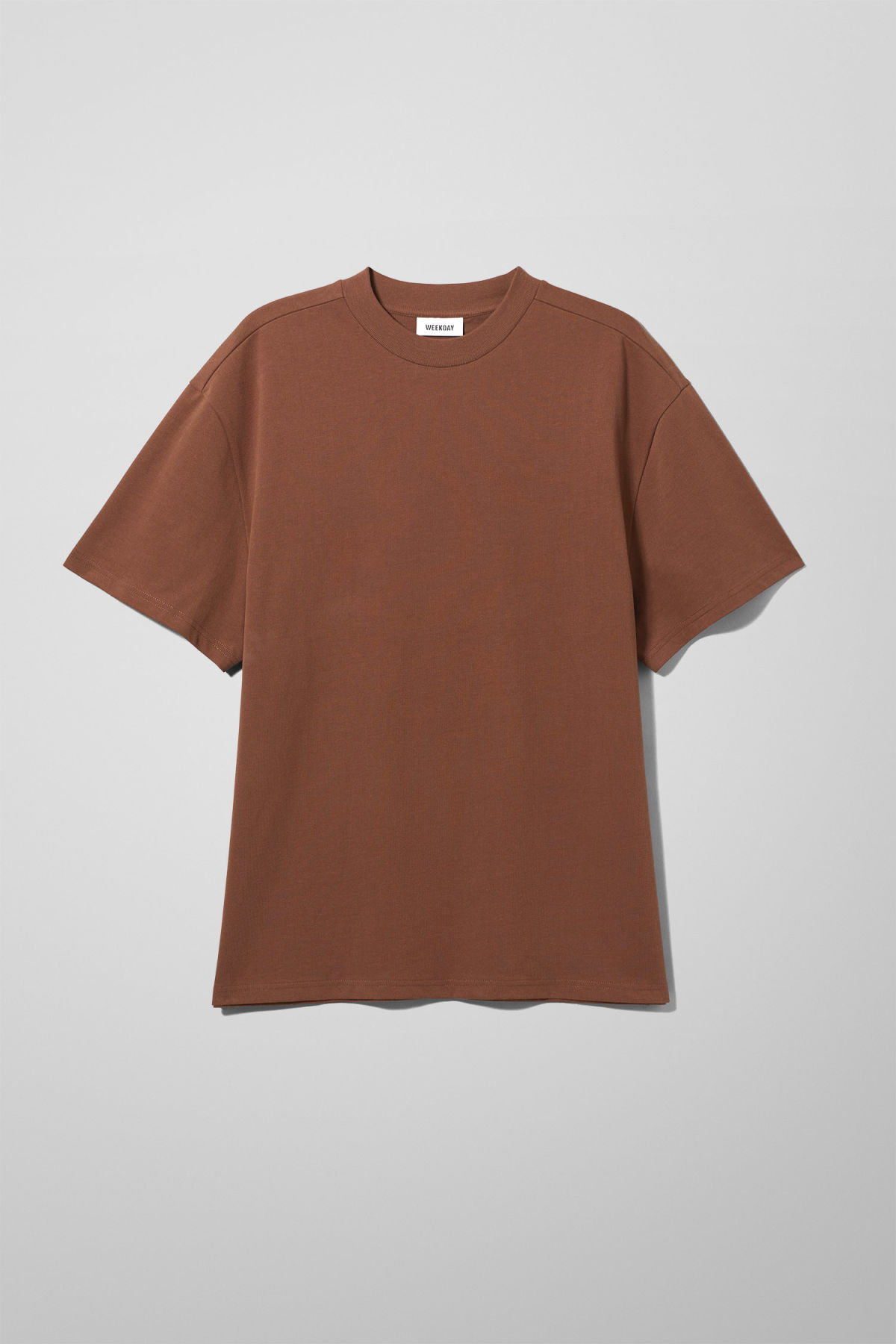 Front image of Weekday great t-shirt in beige