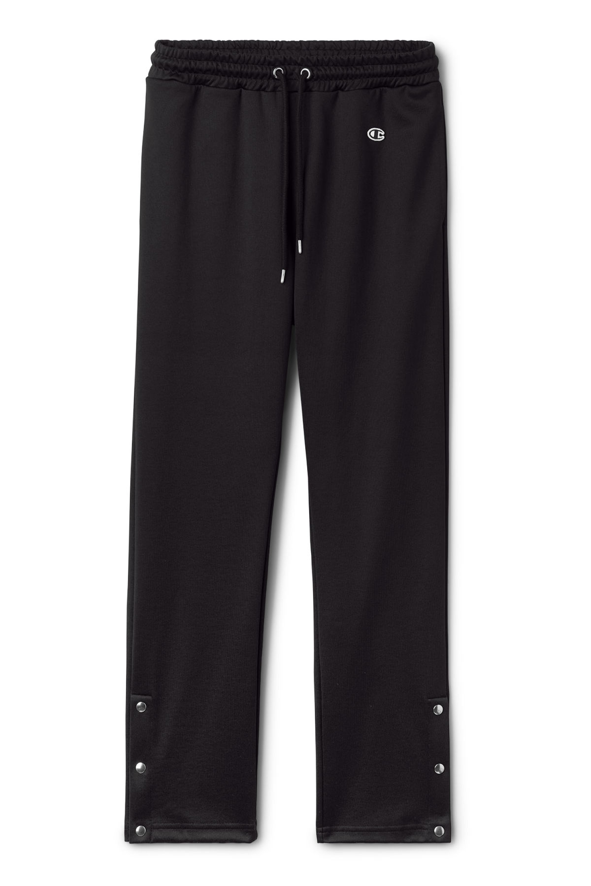 Front image of Weekday step sweatpants  in black