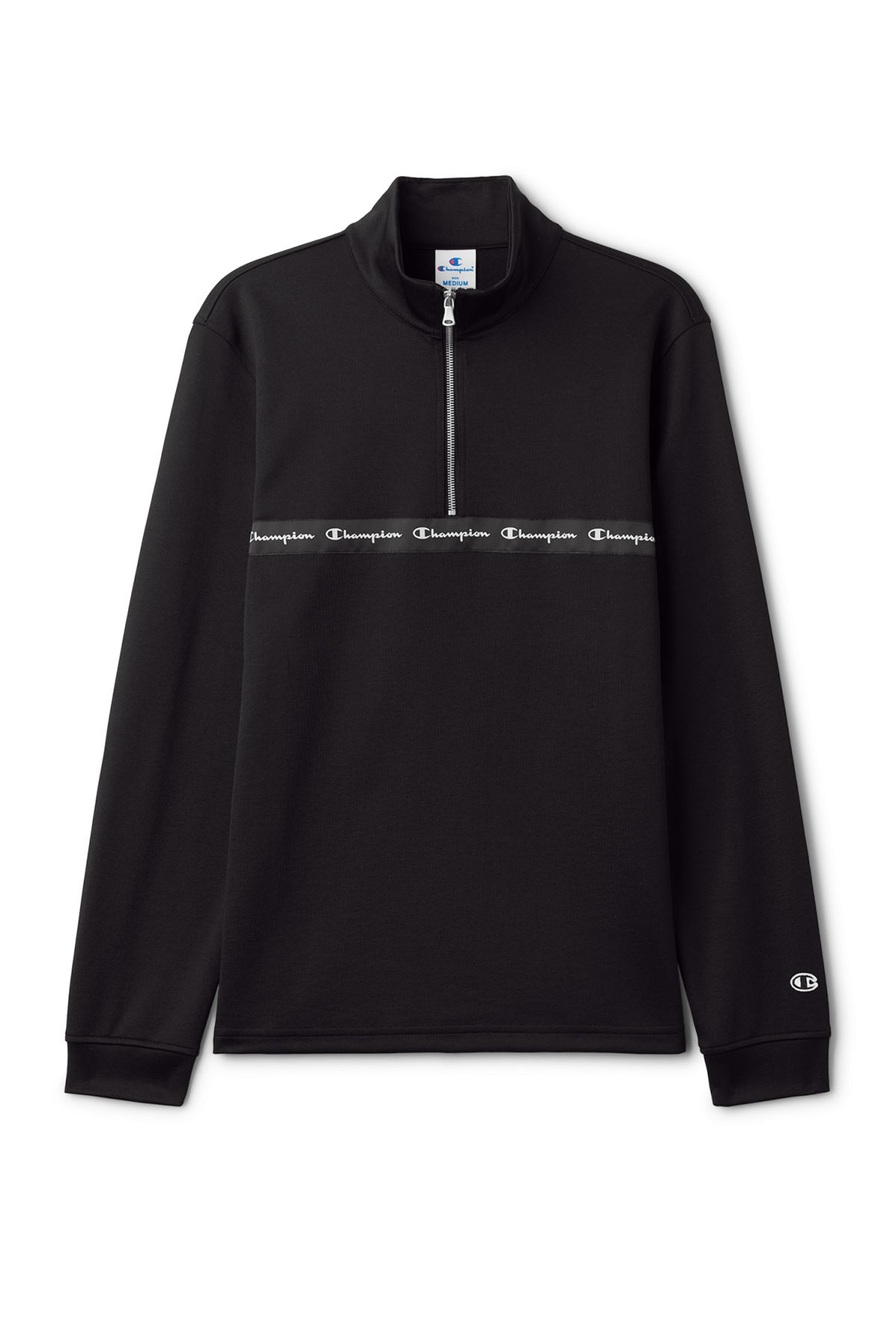 Front image of Weekday pull raised sweatshirt in black
