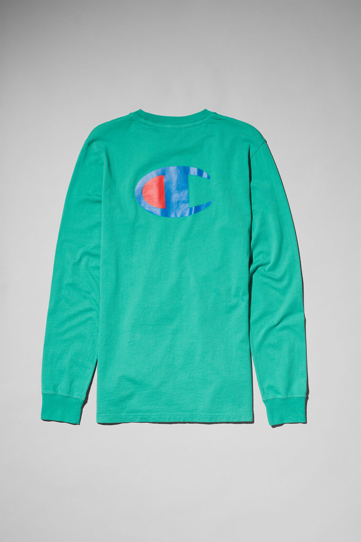 Back image of Weekday stretch long sleeve in green