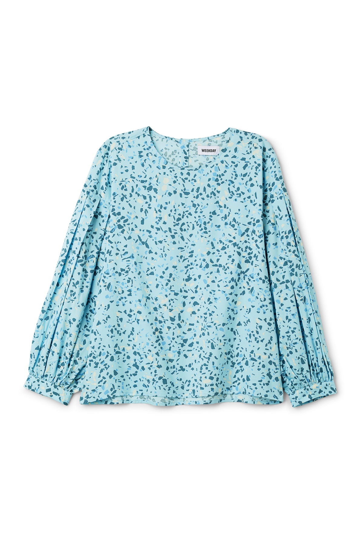 Front image of Weekday savina blouse in blue