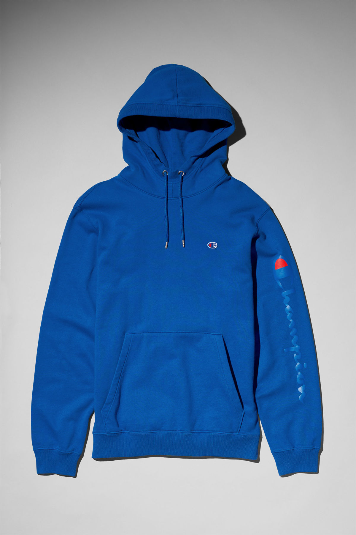 Front image of Weekday skate hoodie in blue
