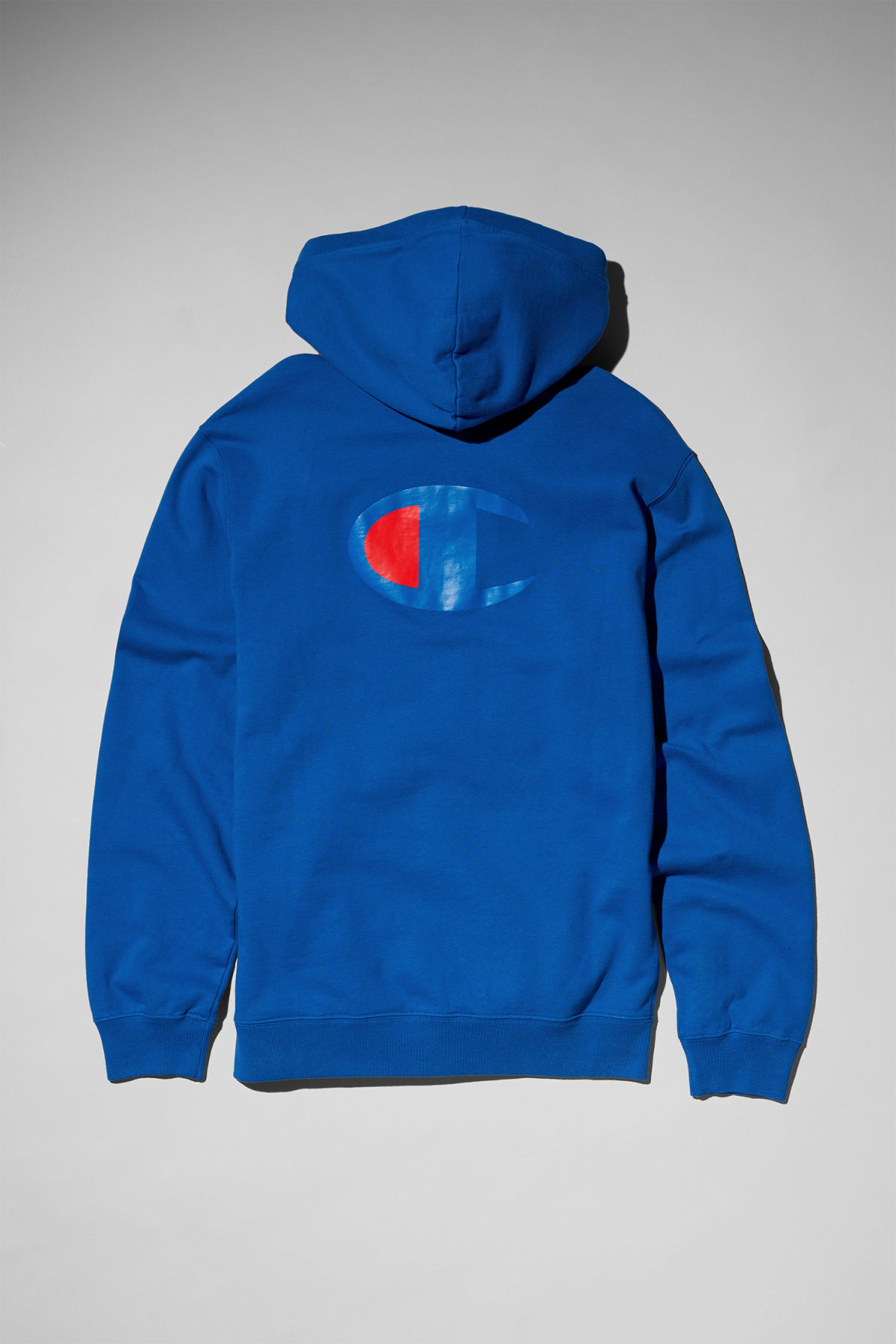 Back image of Weekday skate hoodie in blue