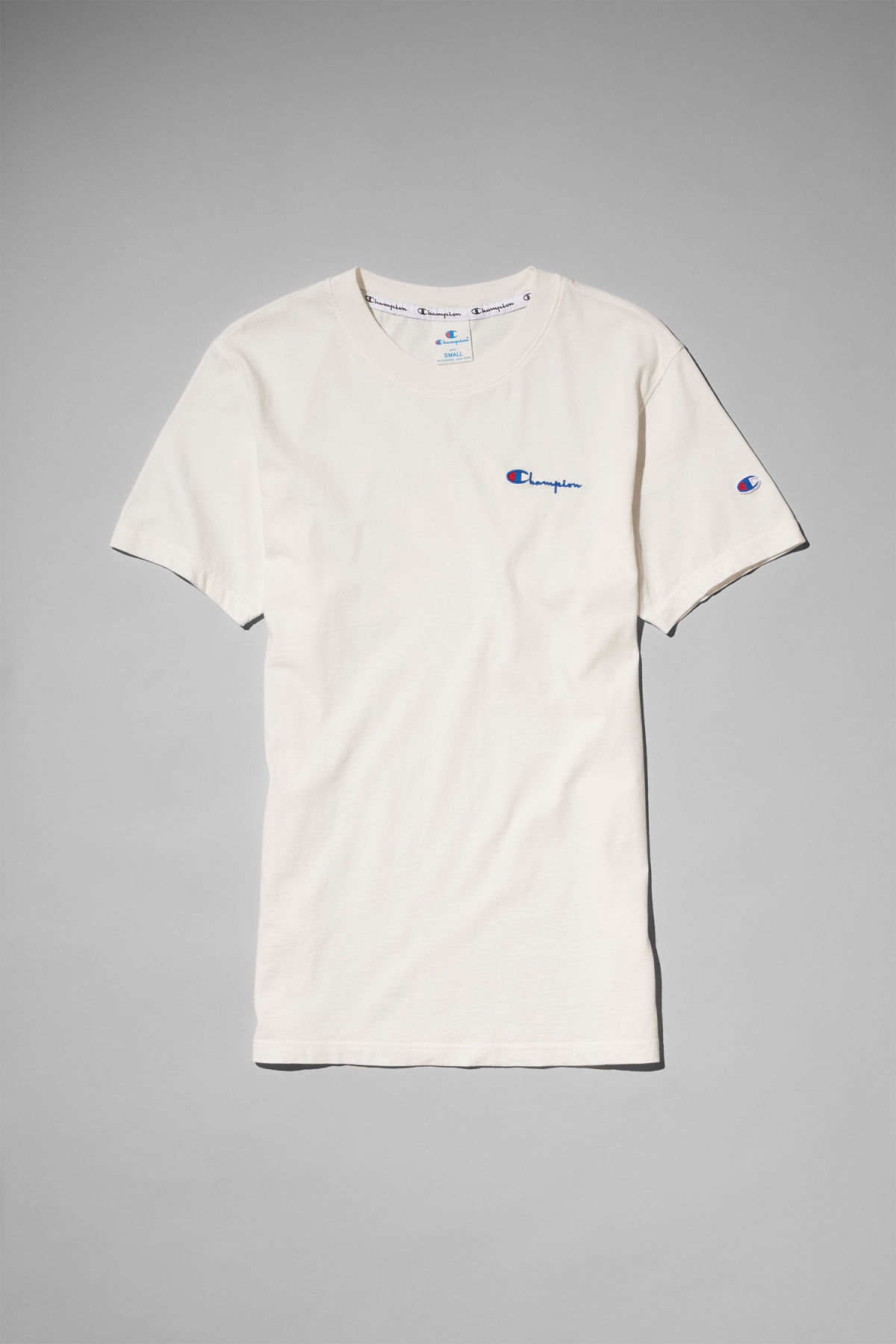 Front image of Weekday flex t-shirt in white