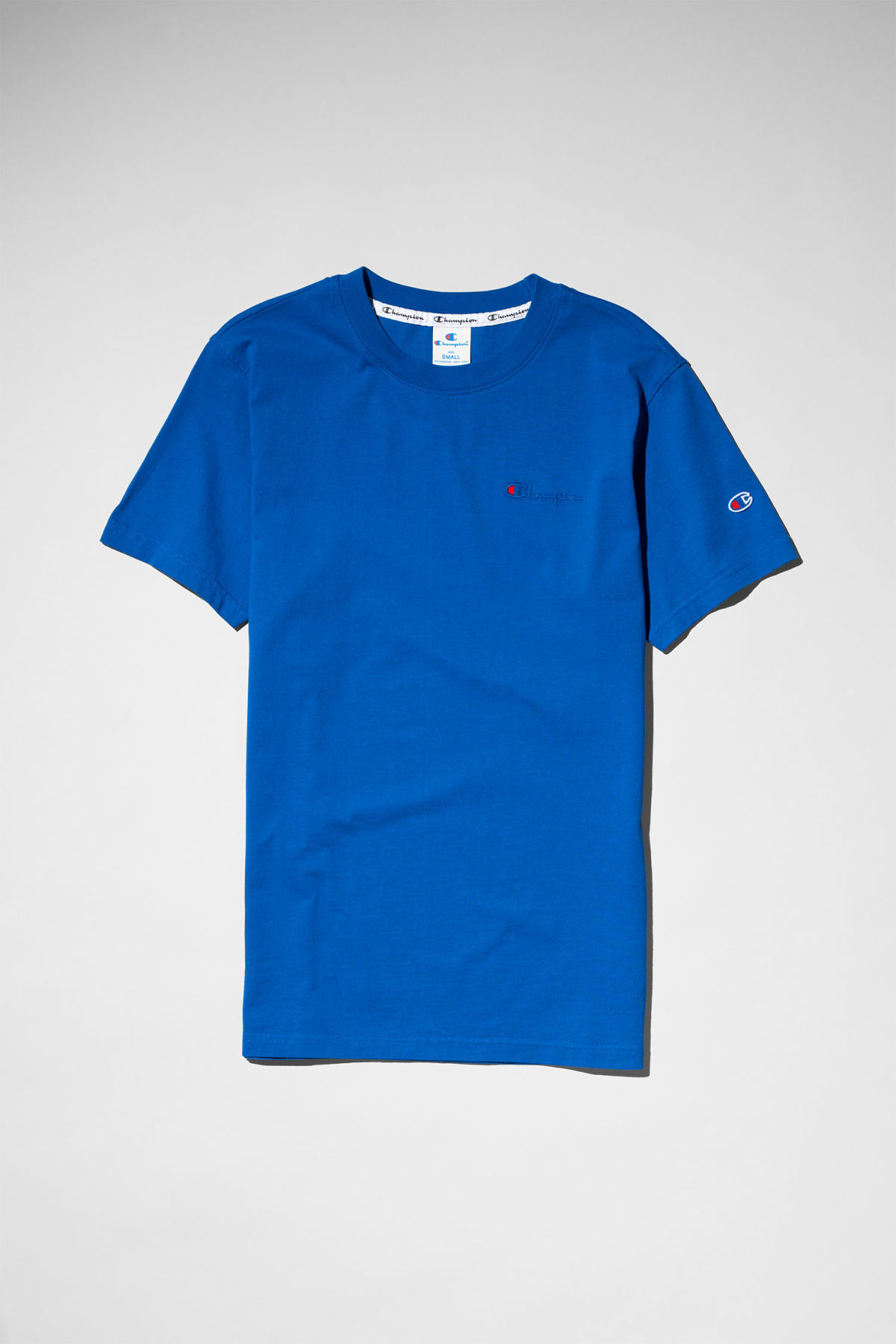 Front image of Weekday flex t-shirt in blue