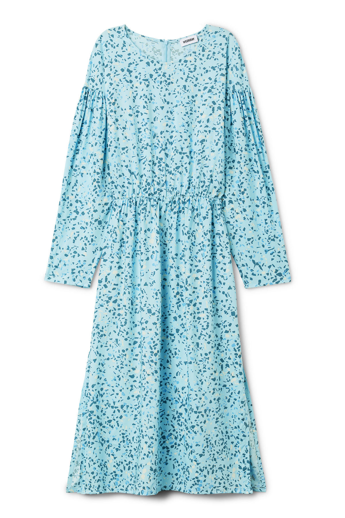 Front image of Weekday yancey dress in blue