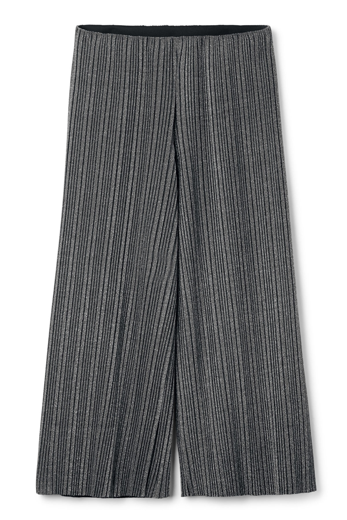 Front image of Weekday malena trousers in black