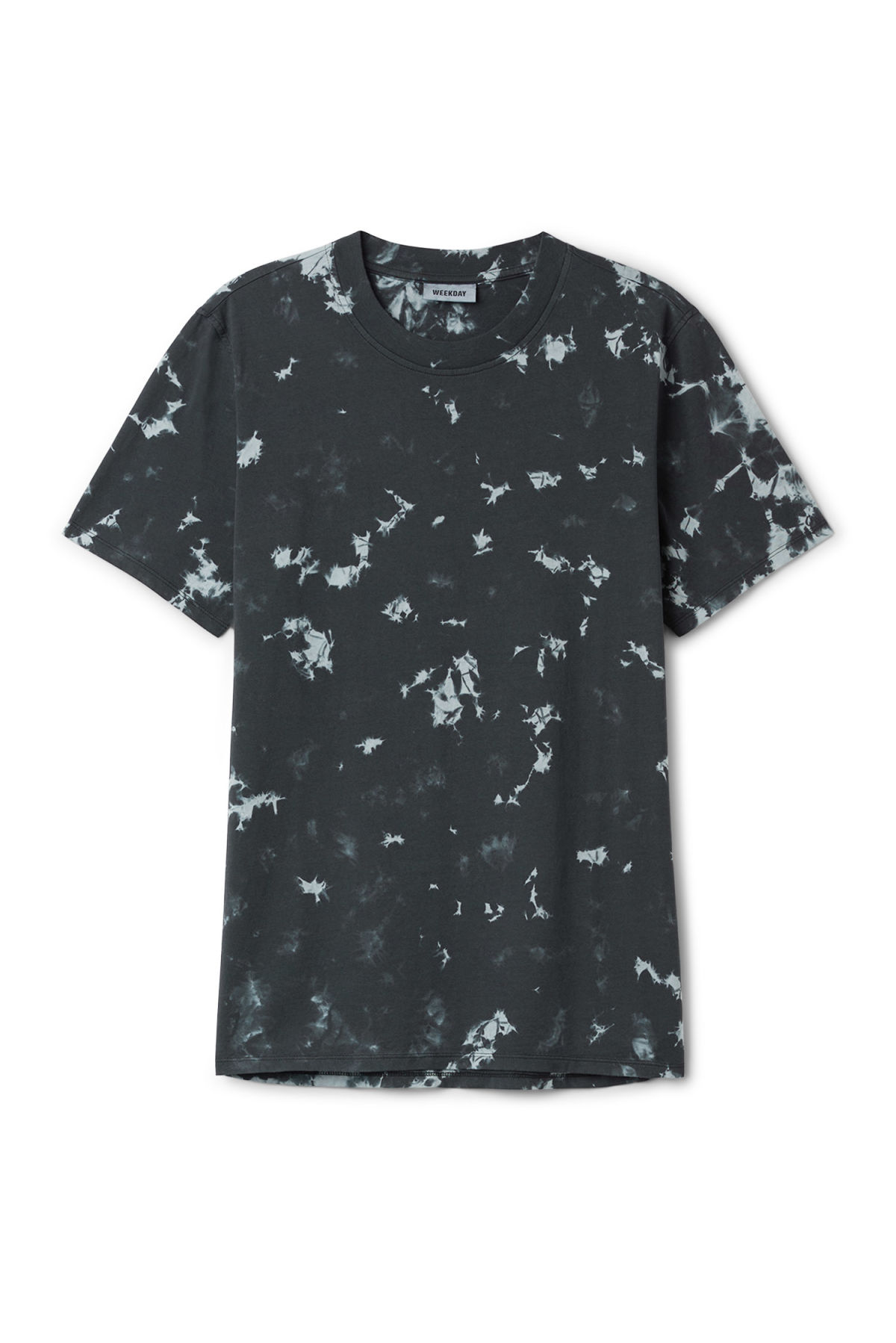Front image of Weekday bob dyed t-shirt in black
