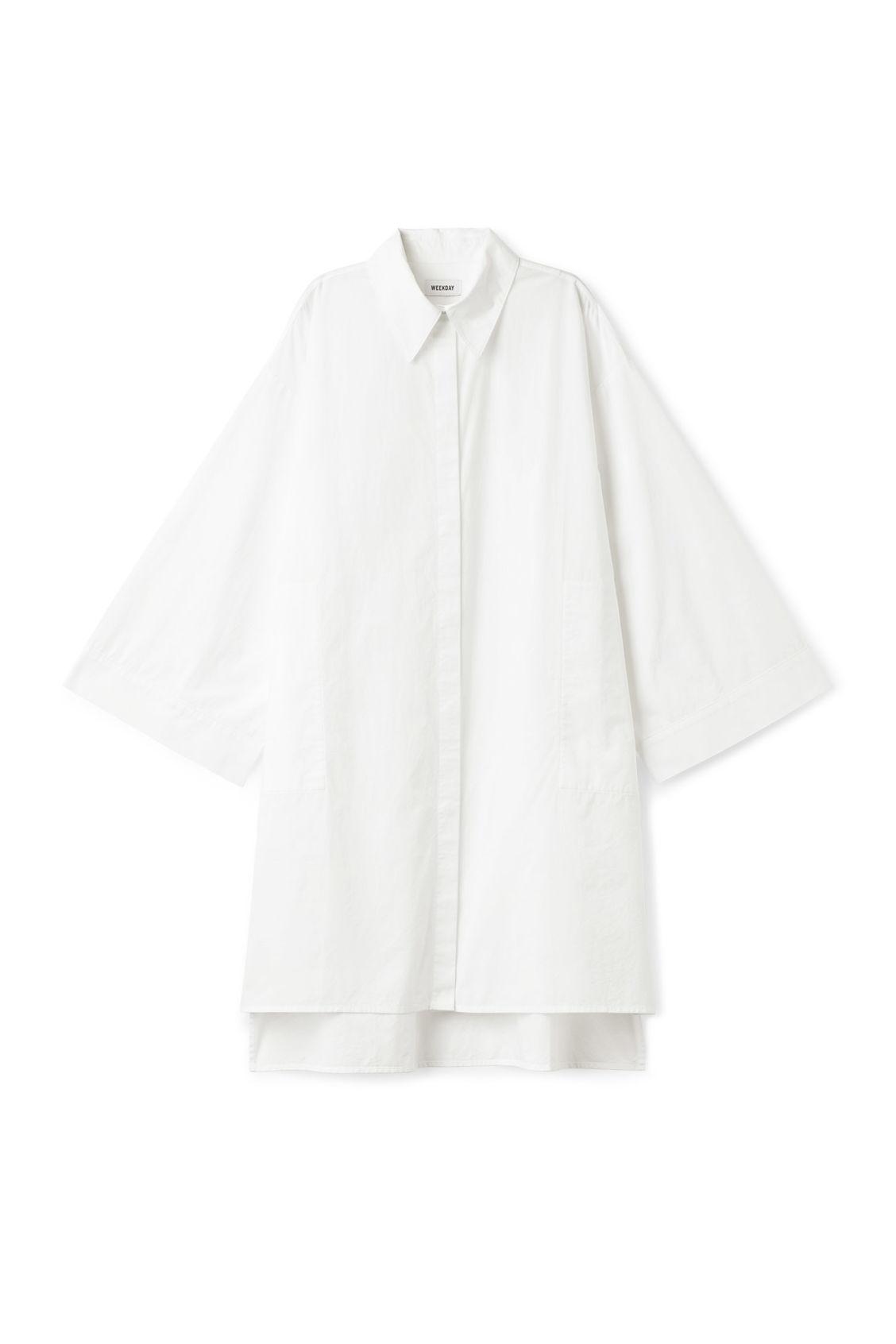 Weekday Alhambra Shirt - White Jeu Meilleur Endroit Vente Livraison Gratuite Chaude i2BOXHdfB