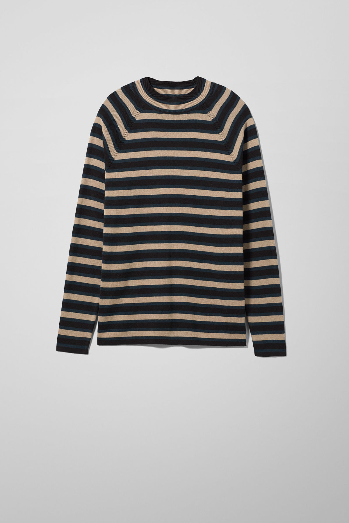 Front image of Weekday true sweater in black
