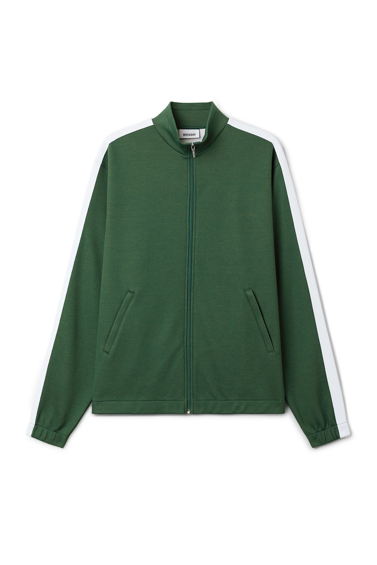 Front image of Weekday track sweatshirt  in green