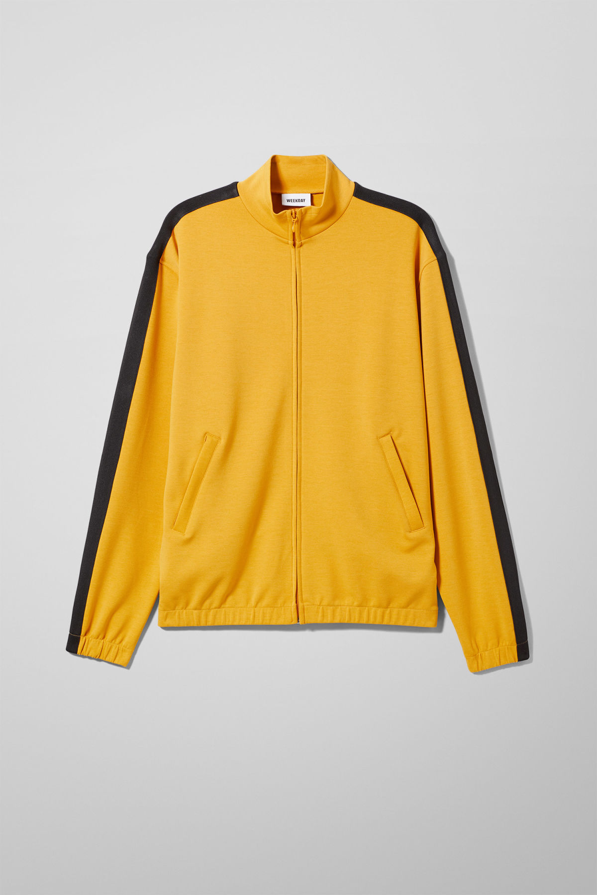 Front image of Weekday track sweatshirt  in yellow