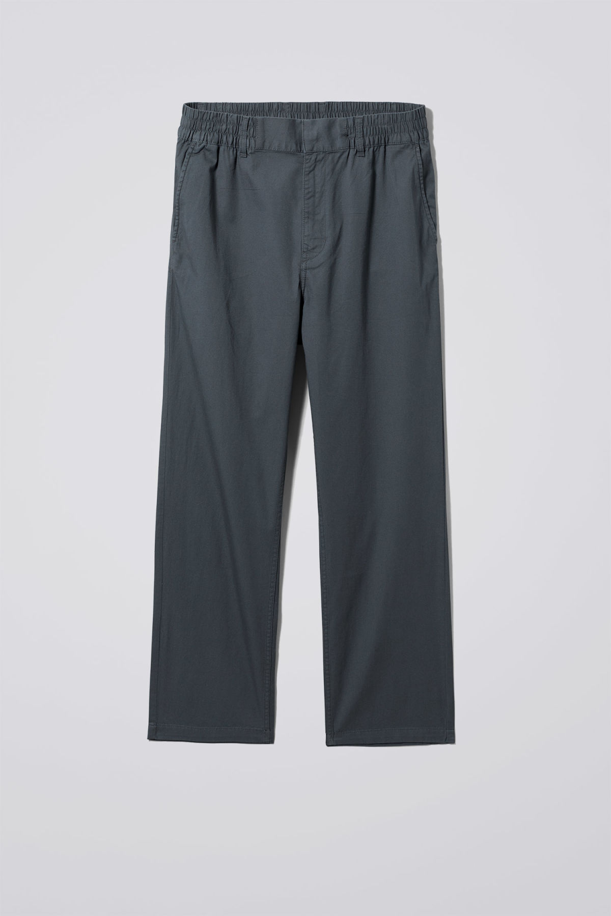 Front image of Weekday bosse trousers in blue