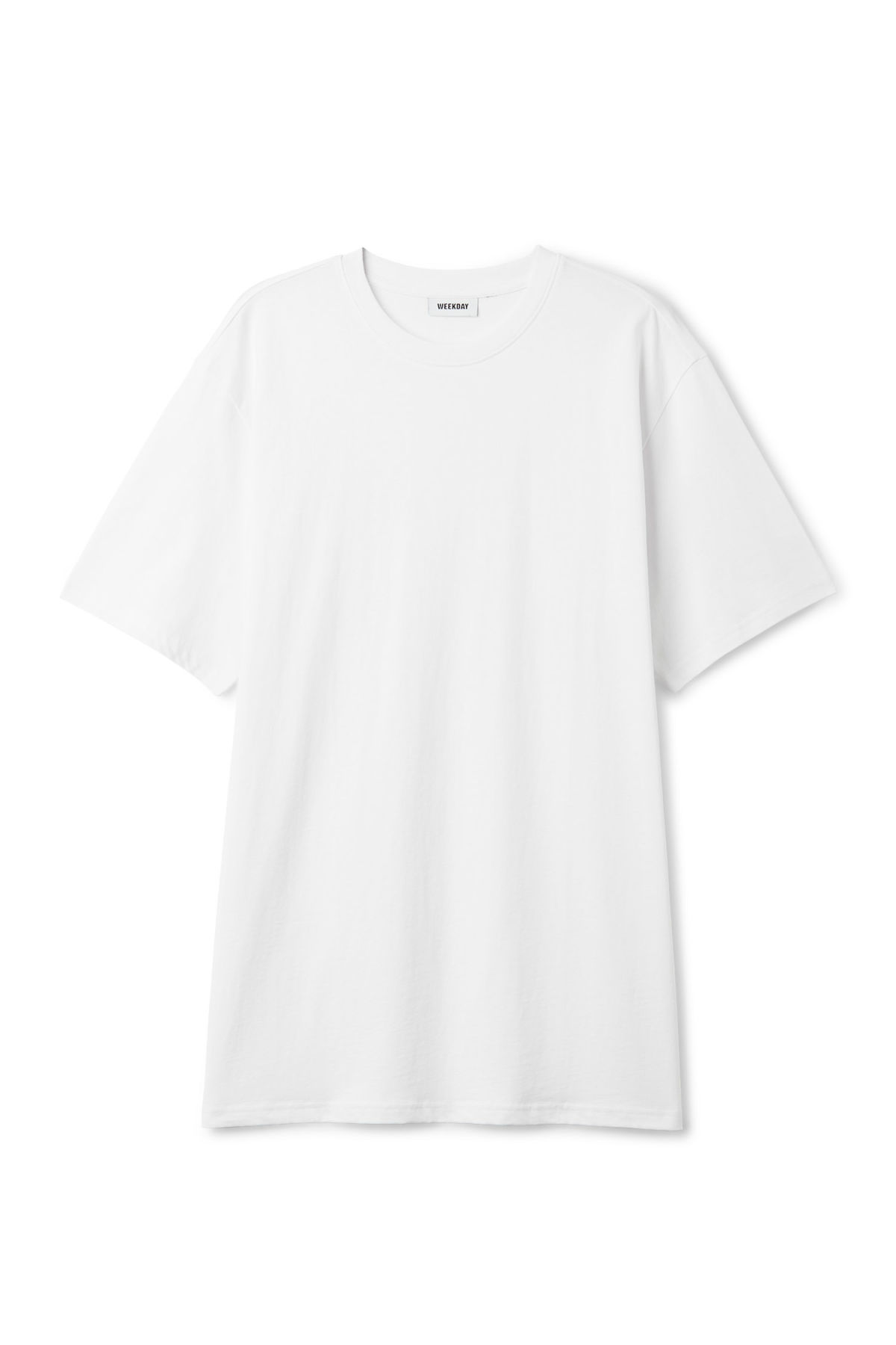 Front image of Weekday lille long t-shirts in white