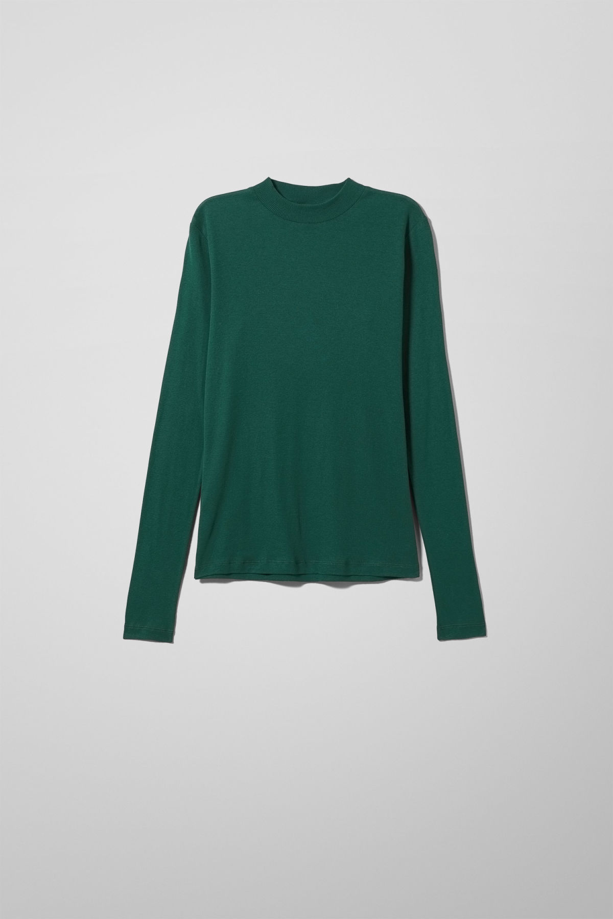 Front image of Weekday meja long sleeve in green