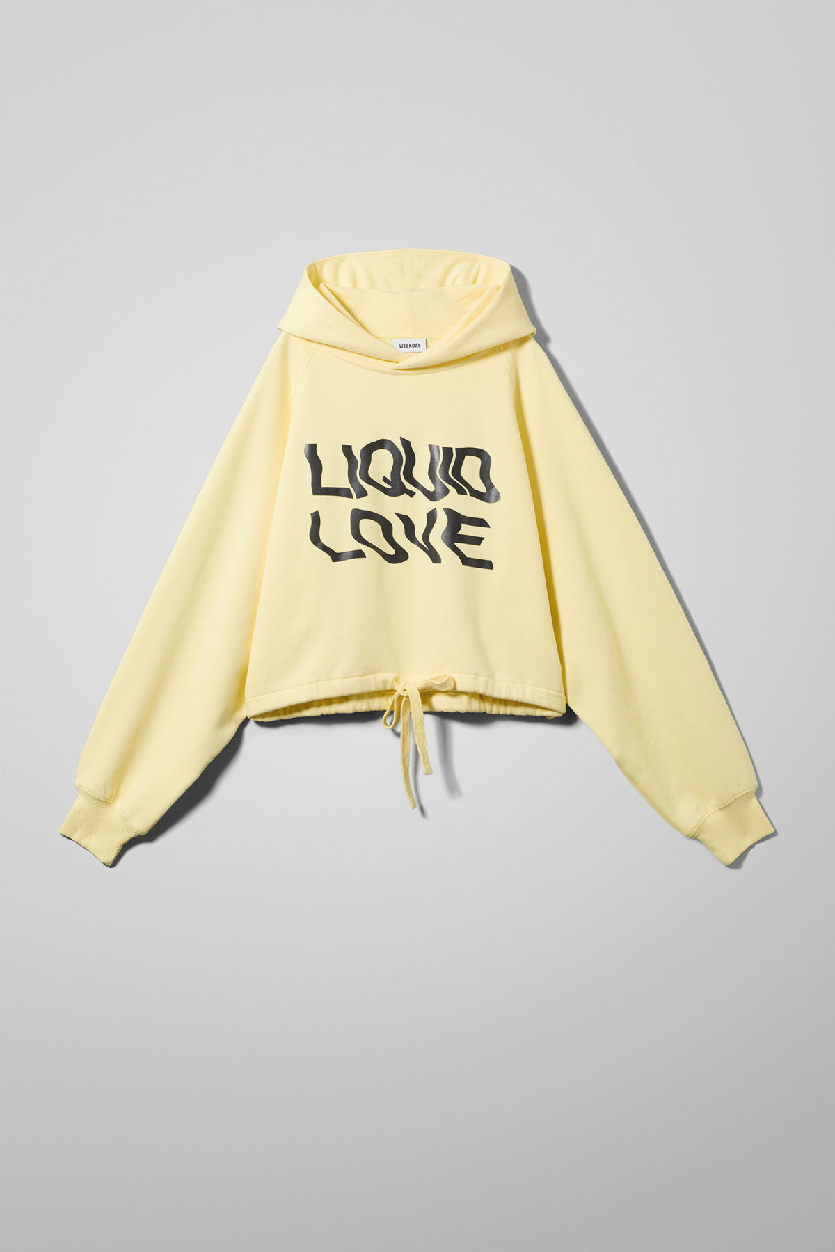 Front image of Weekday center sweatshirt  in yellow