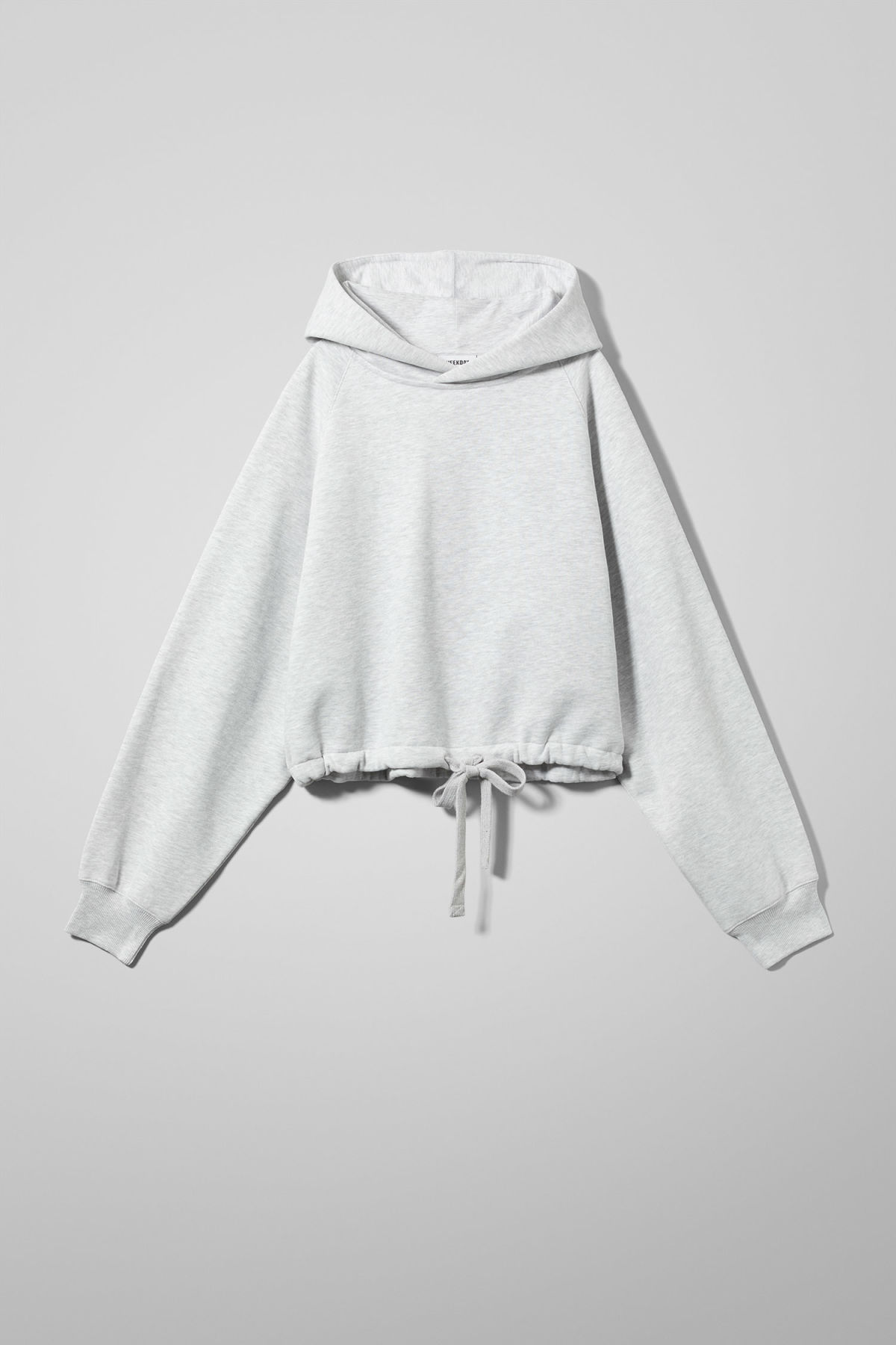 Front image of Weekday center sweatshirt  in grey