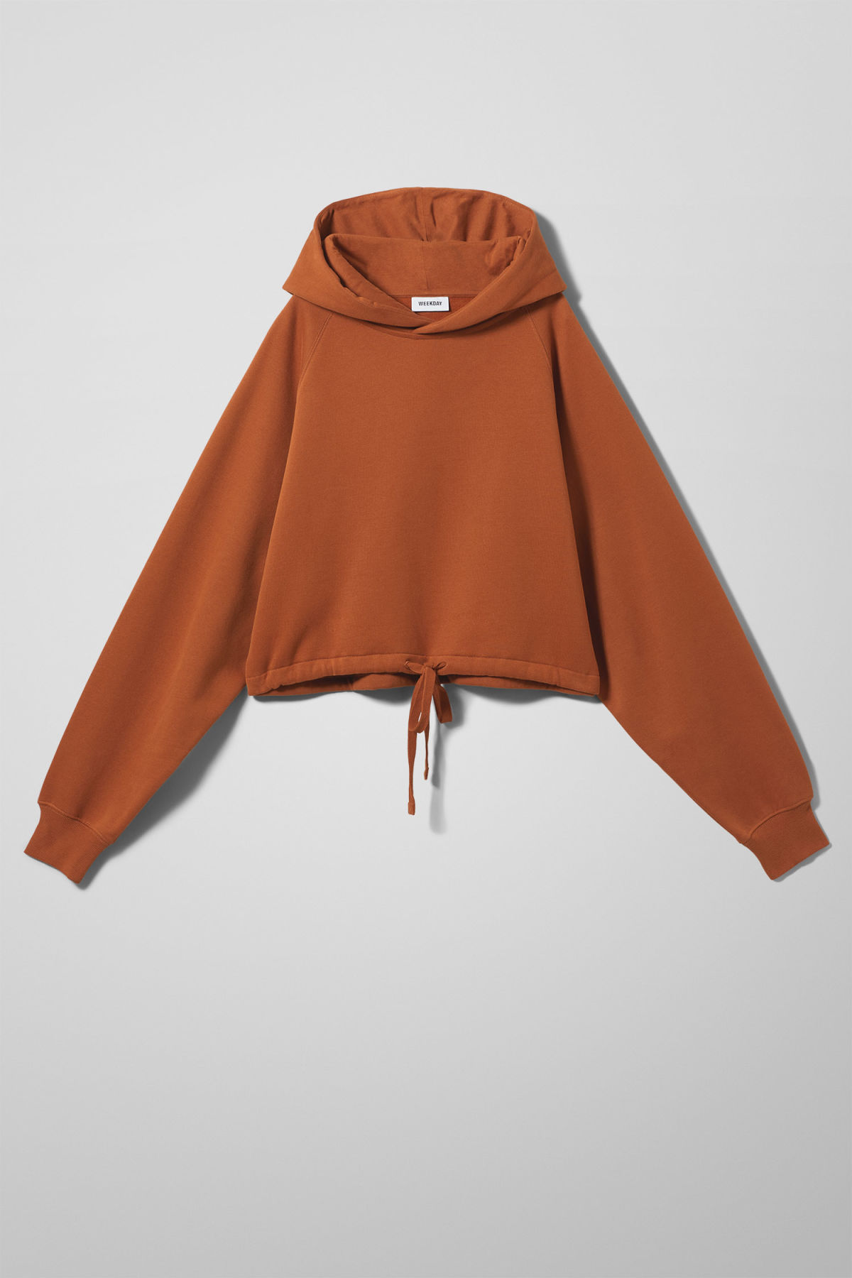 Front image of Weekday center sweatshirt  in orange