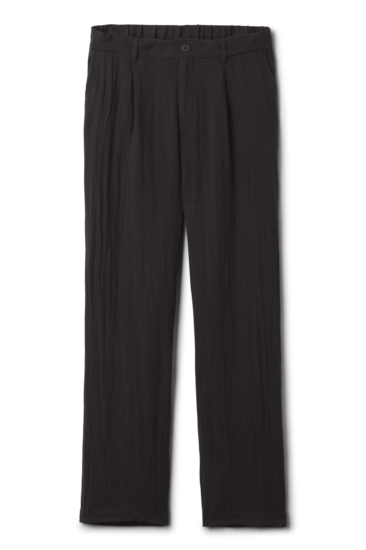 Front image of Weekday largo trousers in black