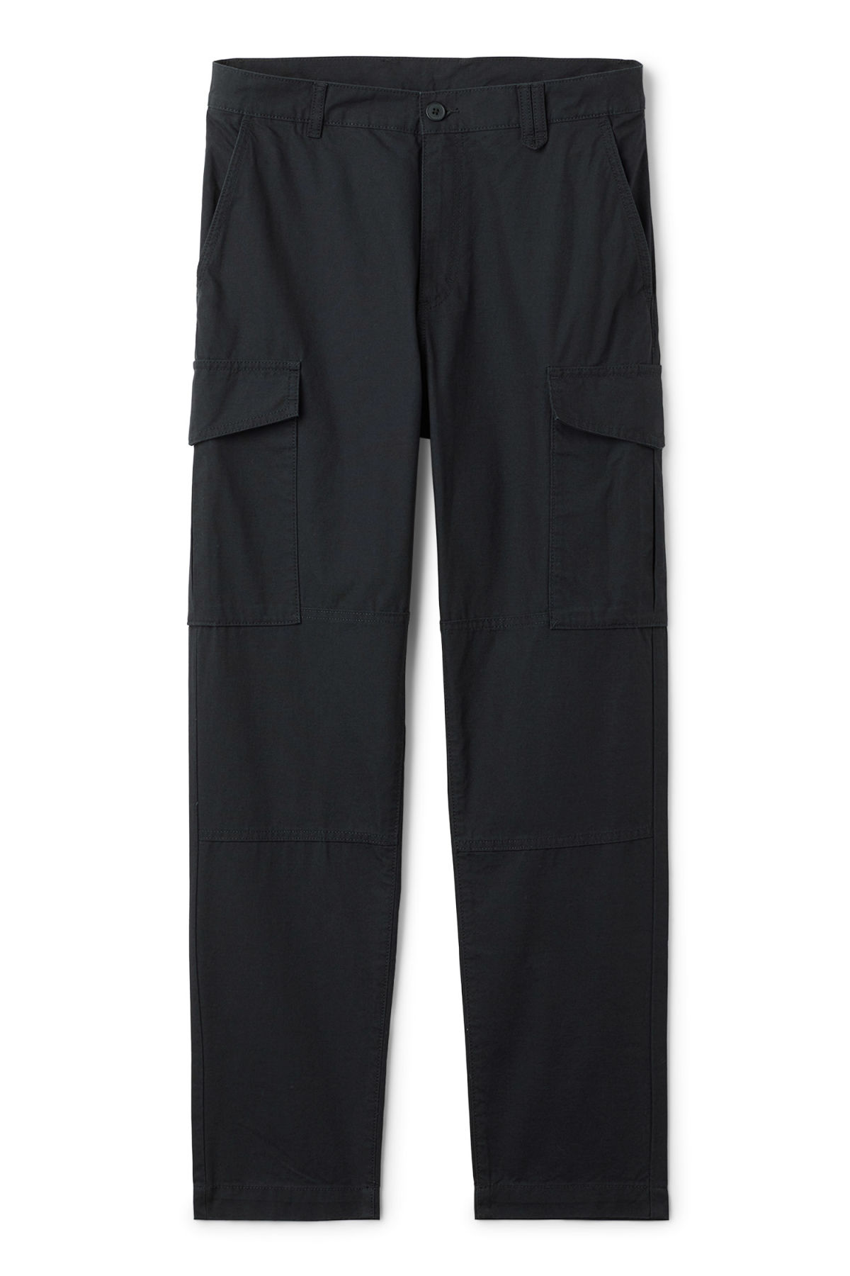 Front image of Weekday craft pocket trousers in blue